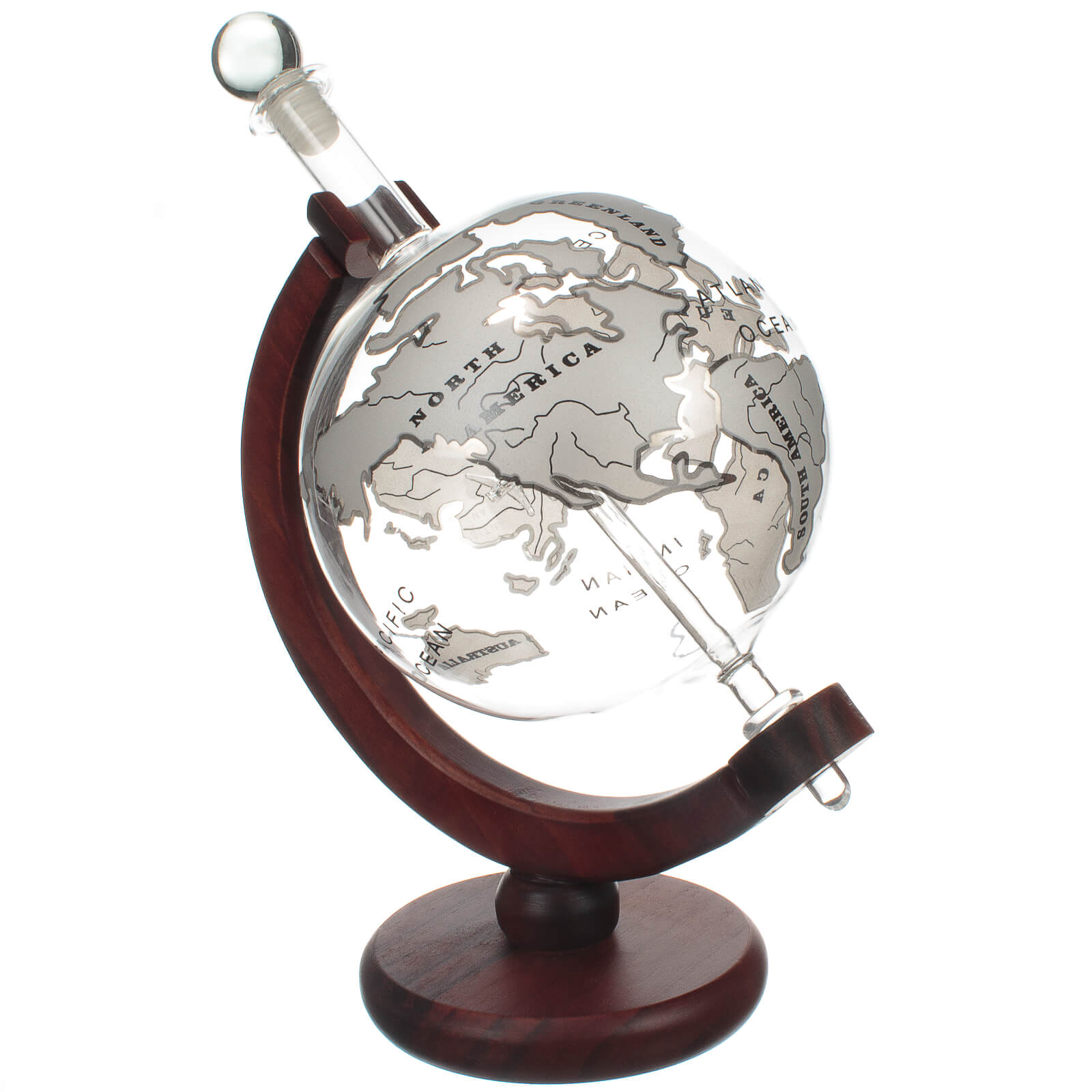 Mixology Vintage Glass Globe Whisky Decanter 1L