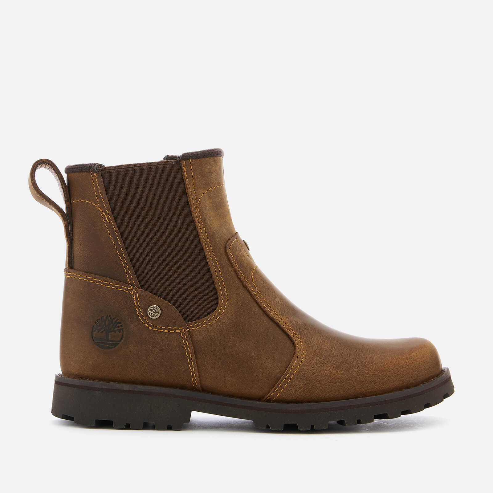 Timberland Kids' Asphalt Trail Leather Chelsea Boots Brown