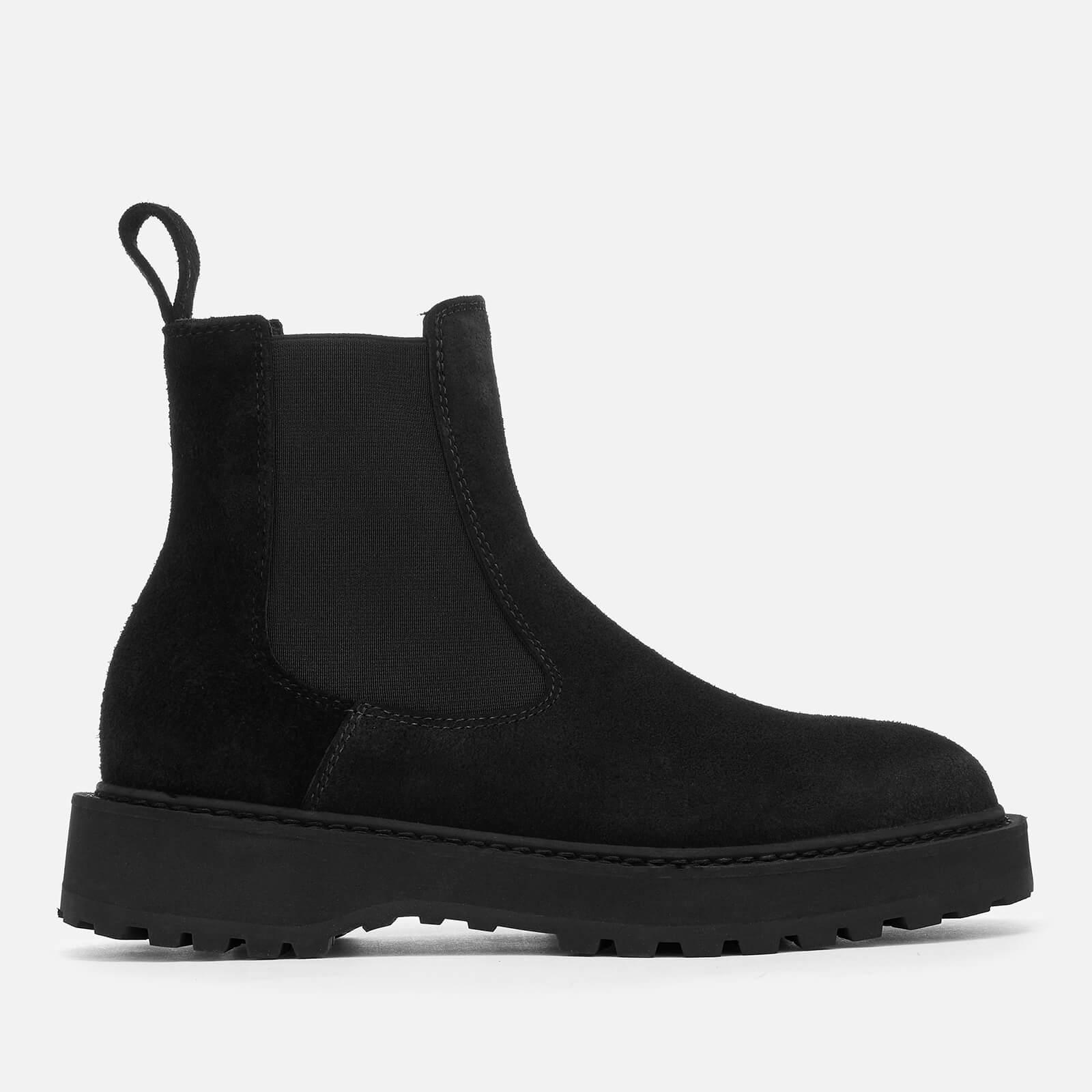 Alberone Suede Chelsea Boots - Black
