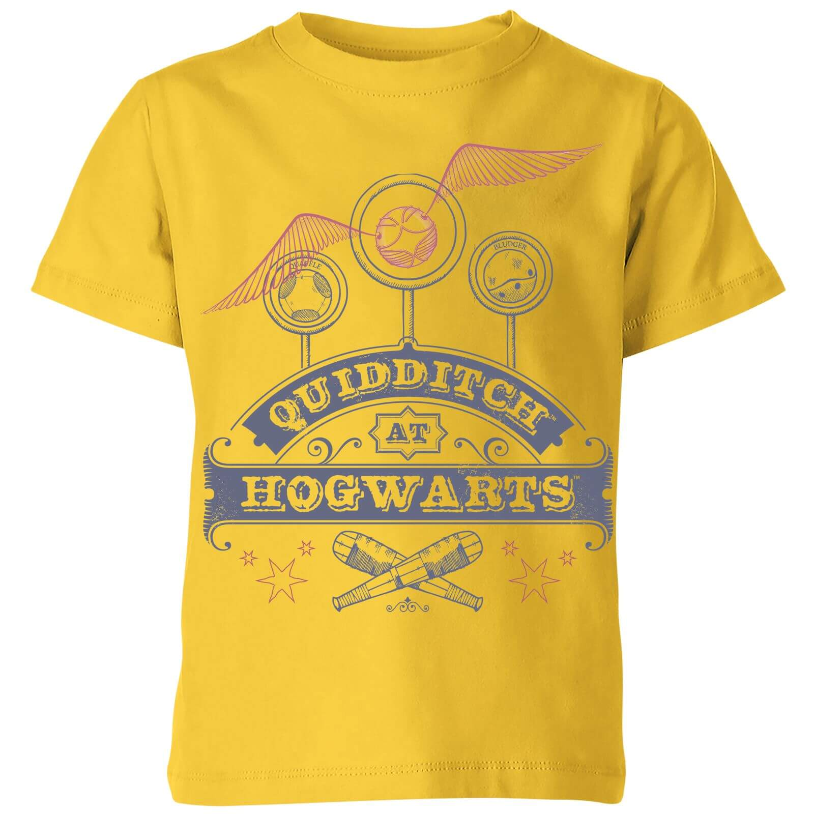 Harry Potter Quidditch At Hogwarts Kids T Shirt Yellow Clothing
