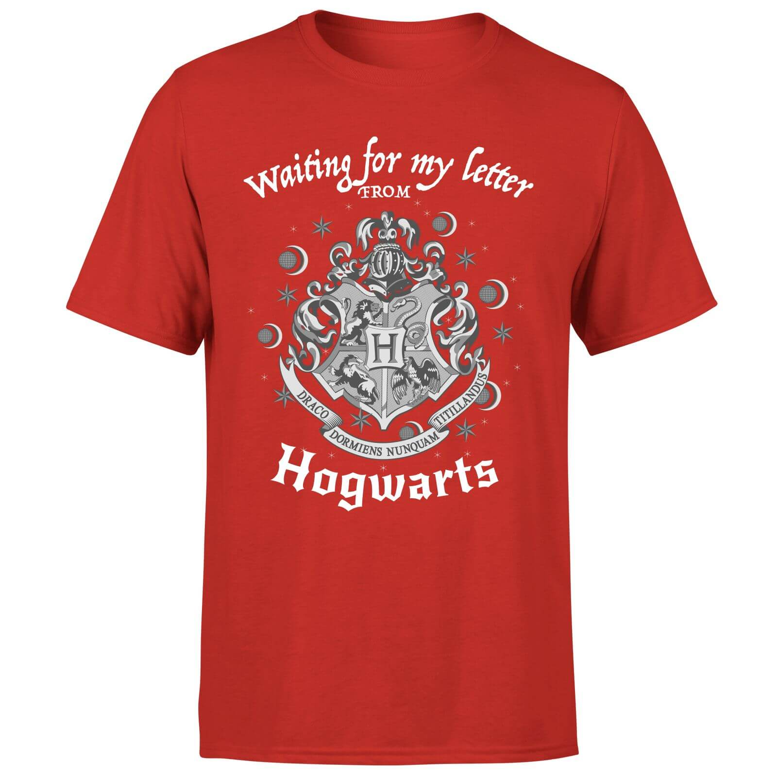 Camiseta Harry Potter Waiting For My Letter - Hombre - Rojo