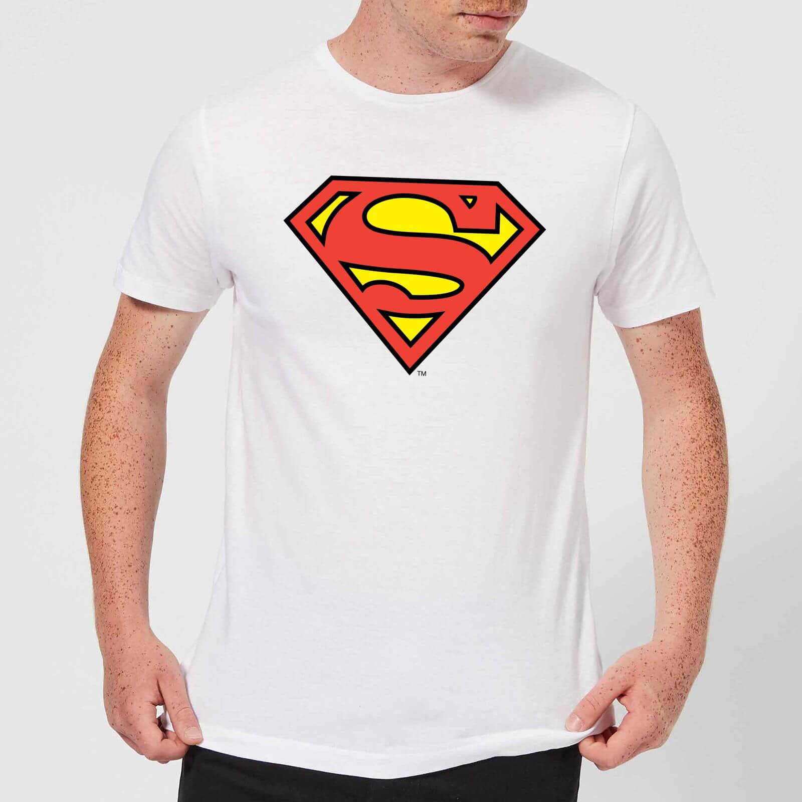 fc86919c DC Originals Official Superman Shield Men's T-Shirt - White Clothing | Zavvi