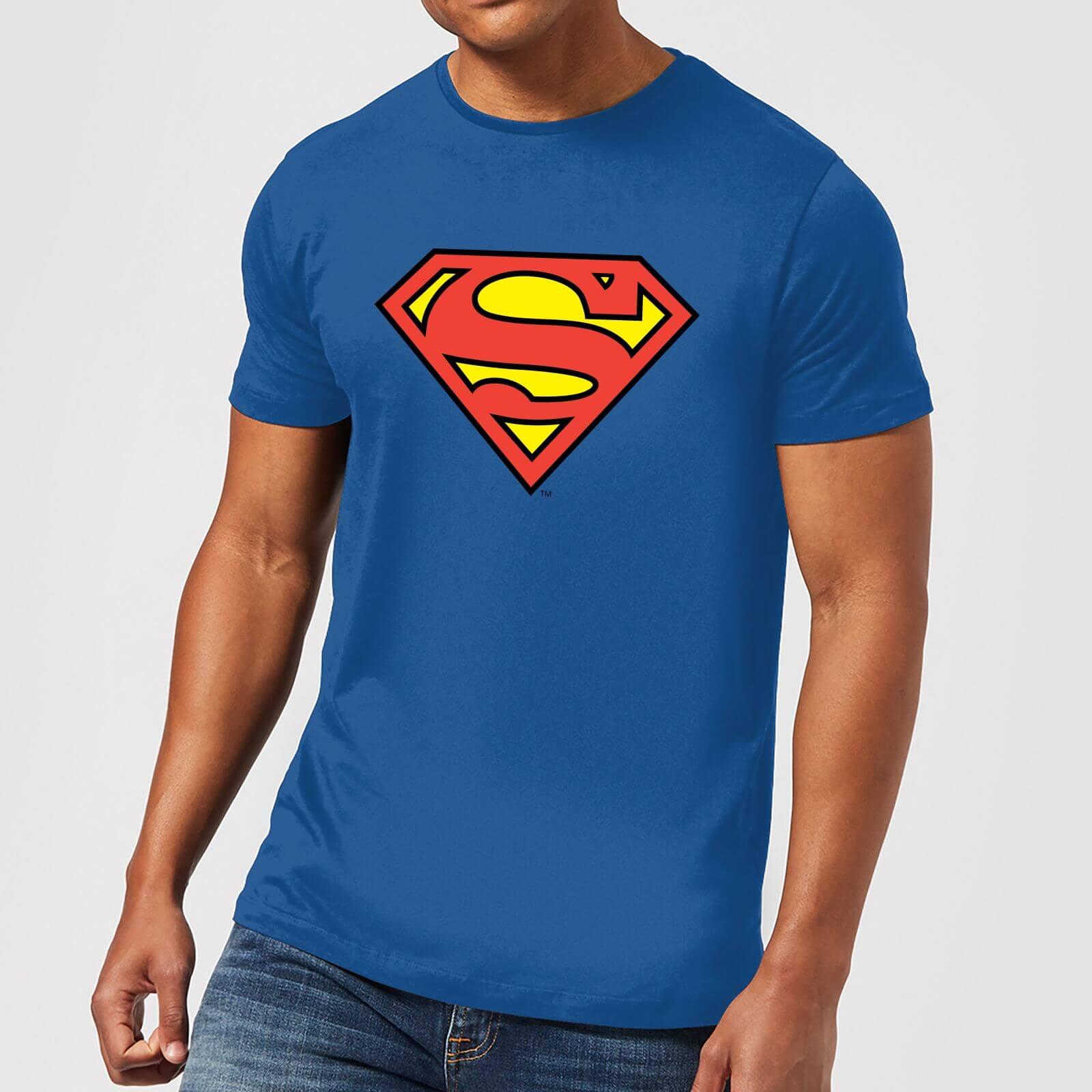 f329d94226 Camiseta DC Comics Superman Logo Clásico - Hombre - Azul Clothing   Zavvi  España