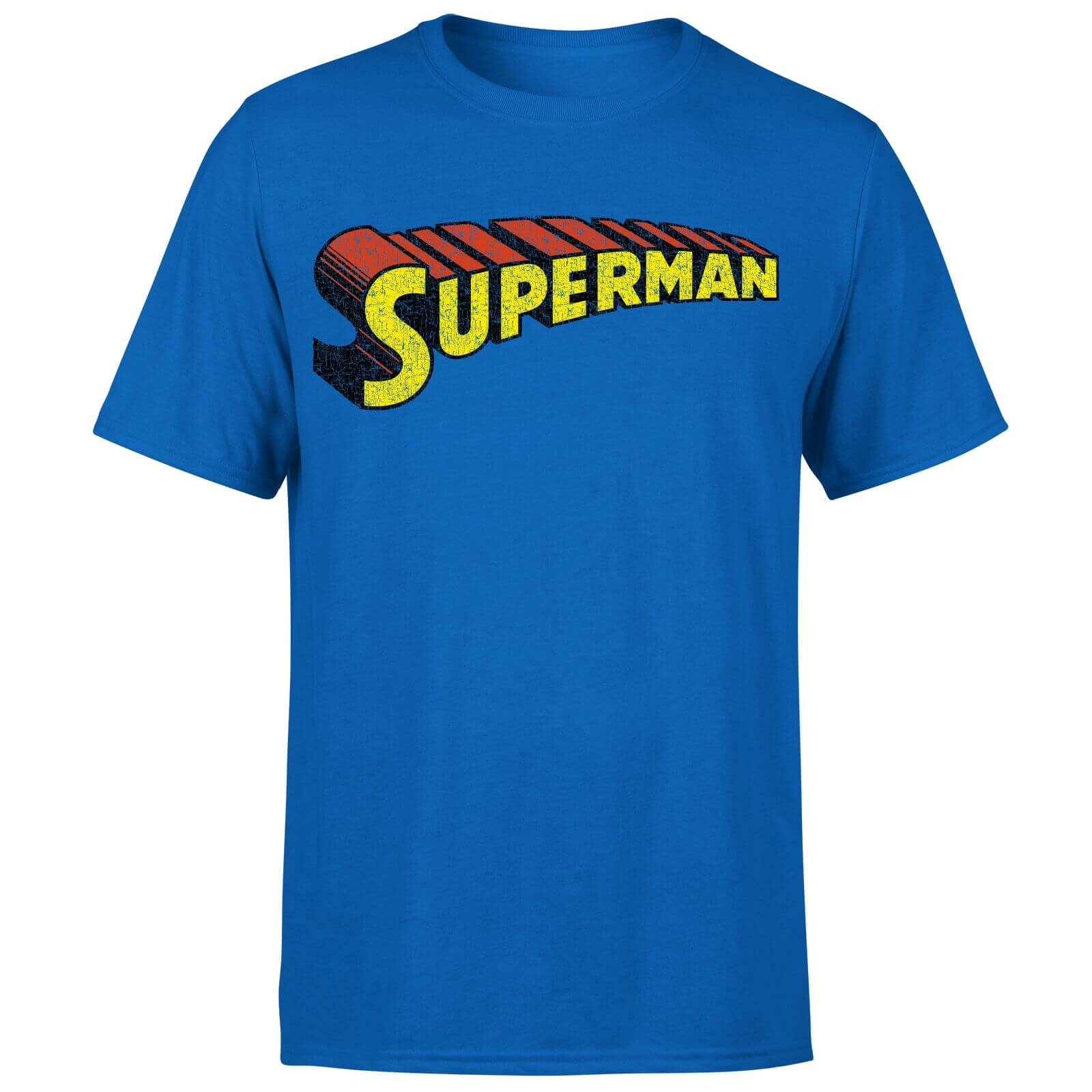 DC Superman Telescopic Crackle Logo Men