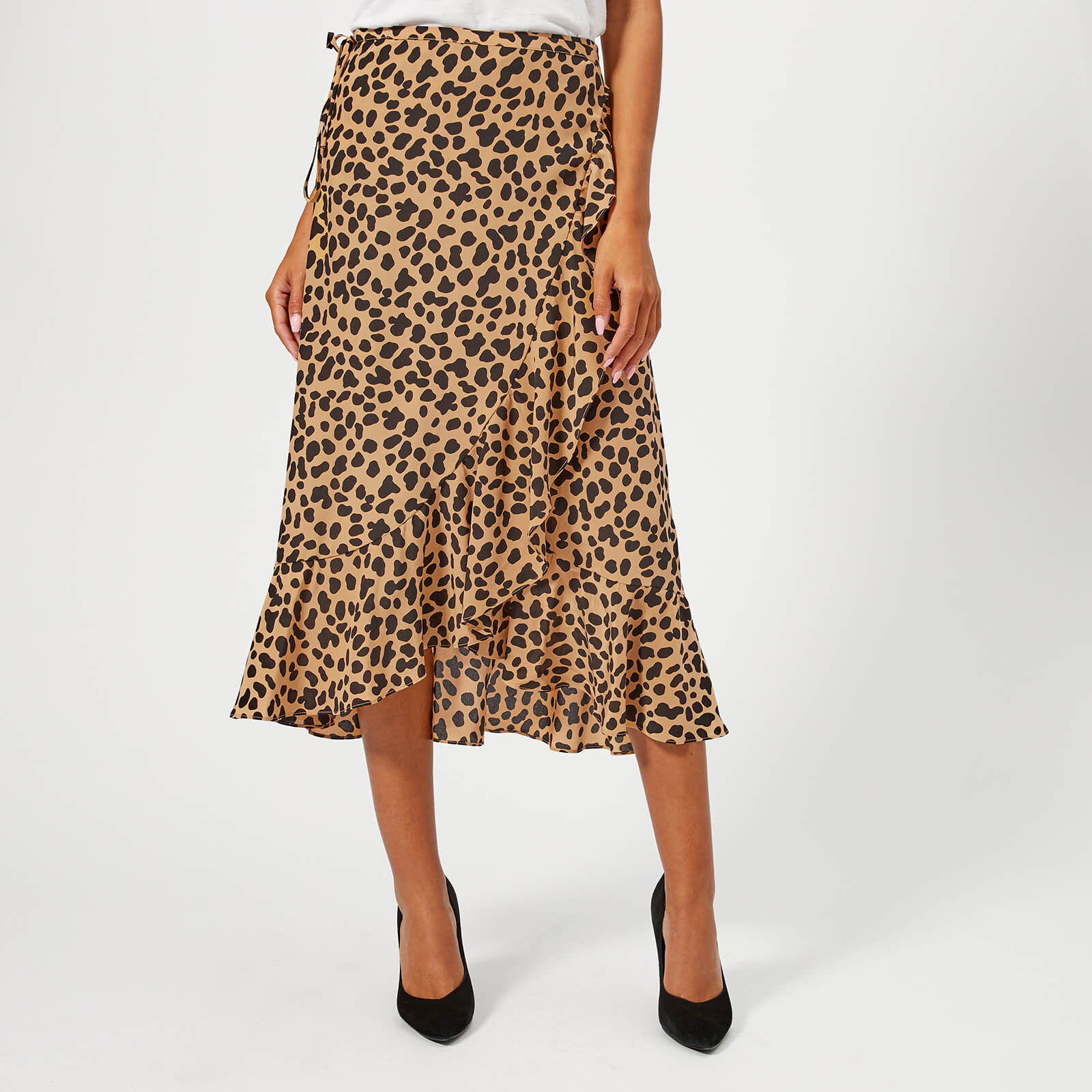 1c2b3d06e656 RIXO Women's Gracie Midi Skirt - Spot Leopard - Free UK Delivery over £50