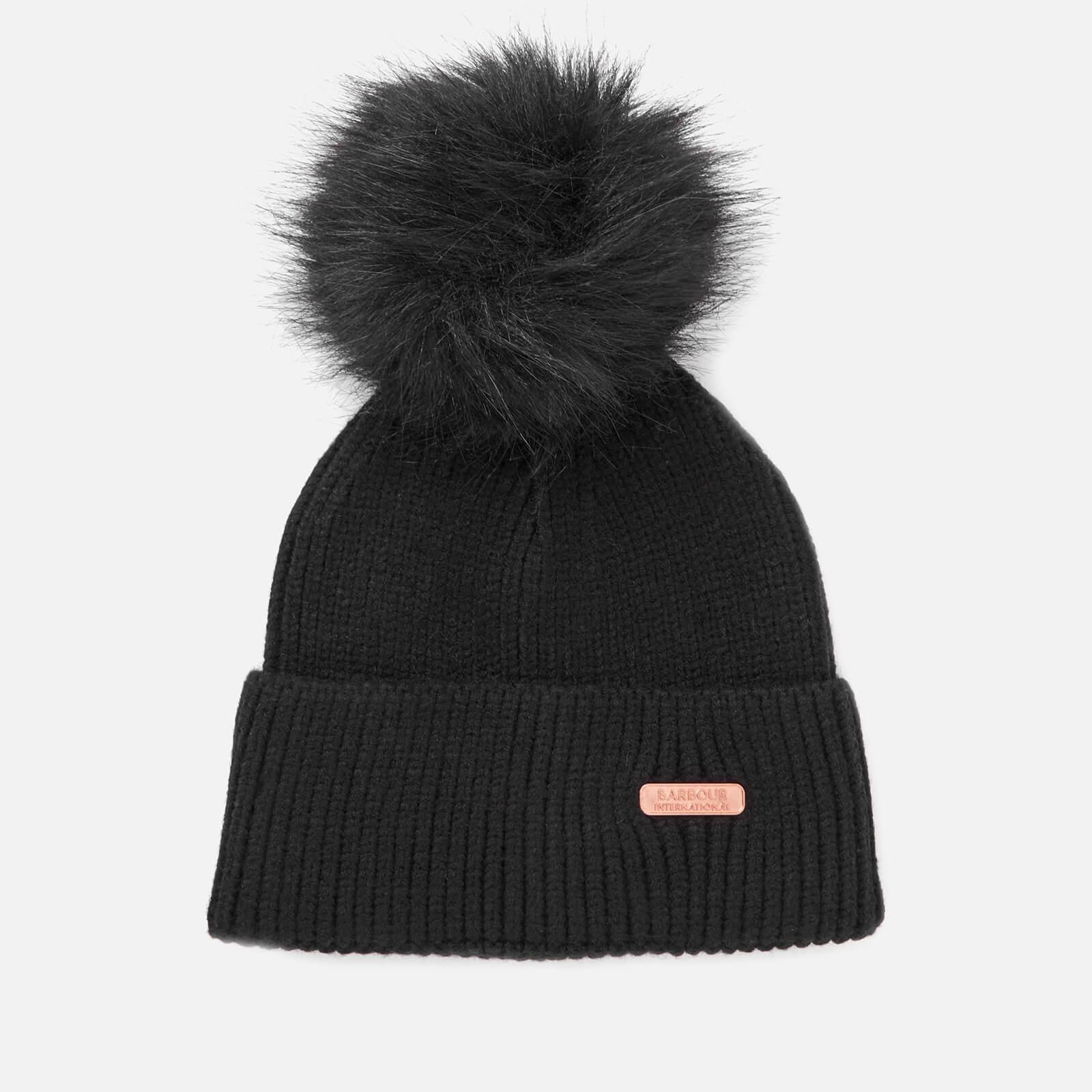 e382266940ae3 Barbour International Women s Mallory Pom Beanie Hat - Black Womens  Accessories
