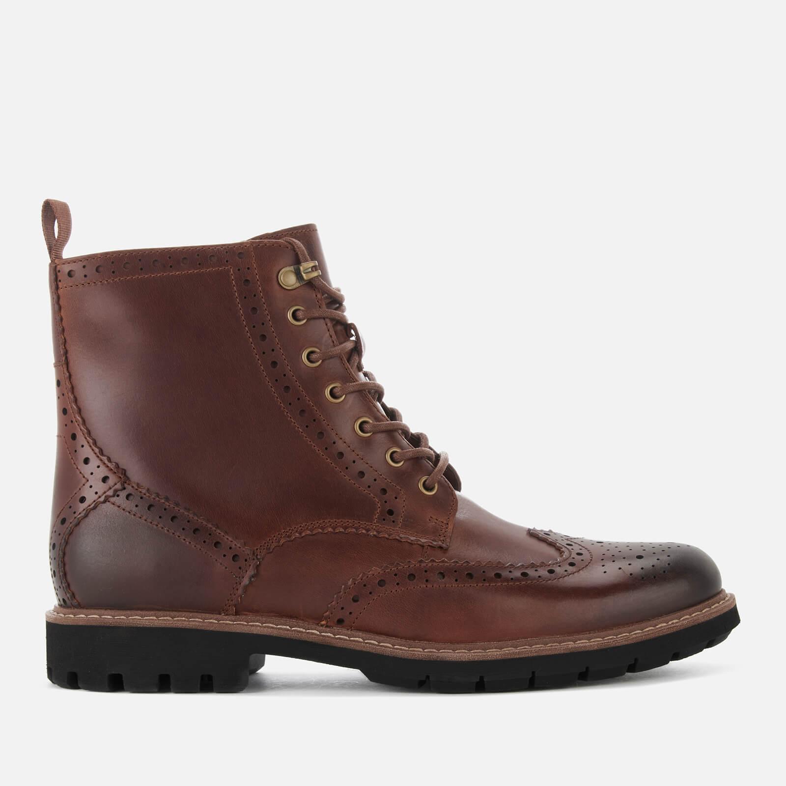 f49e5759 Clarks Men's Batcombe Lord Leather Brogue Lace Up Boots - Dark Tan Mens  Footwear | TheHut.com