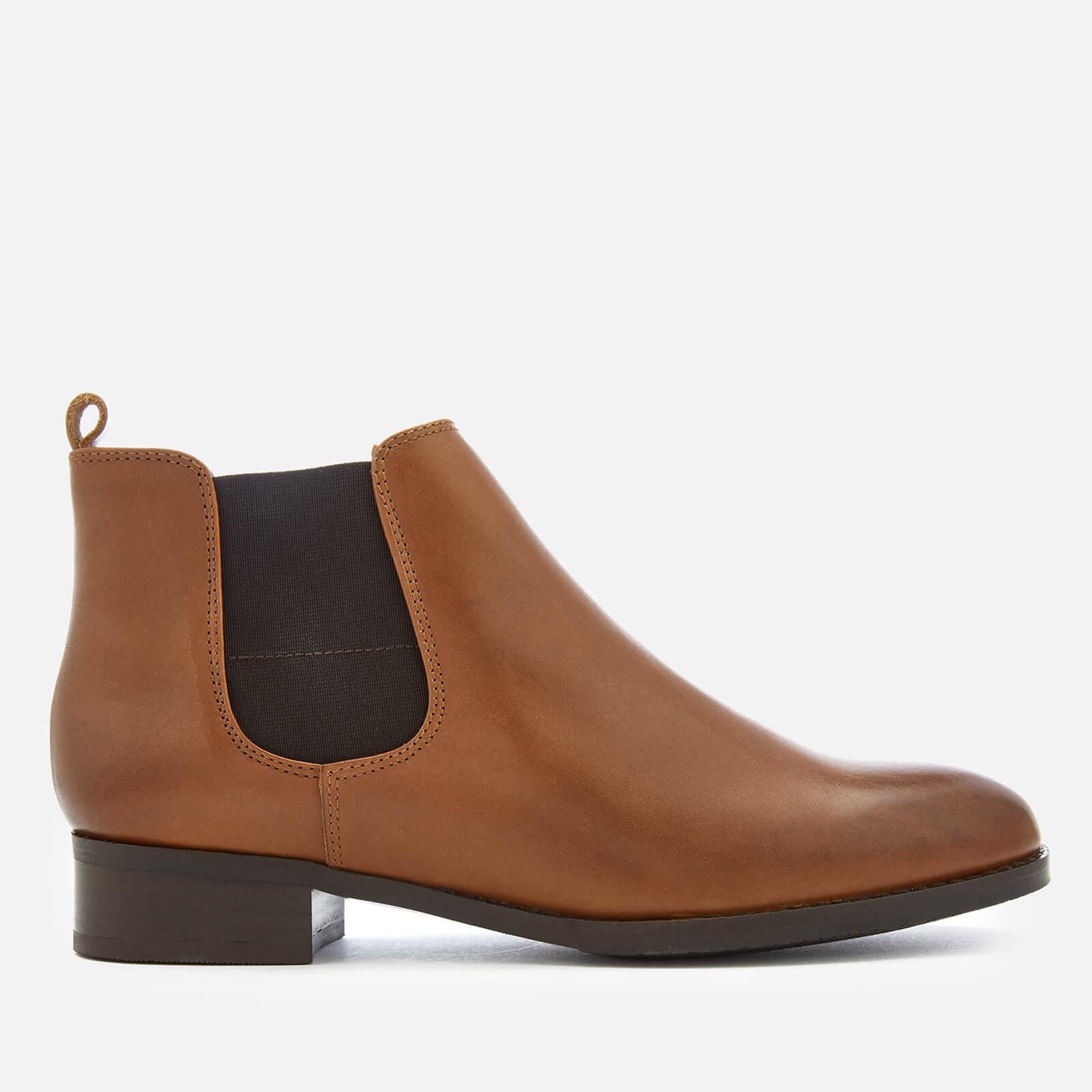 668b93aeb Clarks Women s Netley Ella Leather Chelsea Boots - Tan Womens Footwear