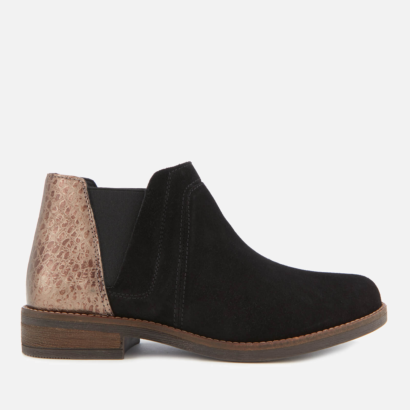 8bb23de68 Clarks Women's Demi Beat Suede Ankle Boots - Black Interest   FREE UK  Delivery   Allsole