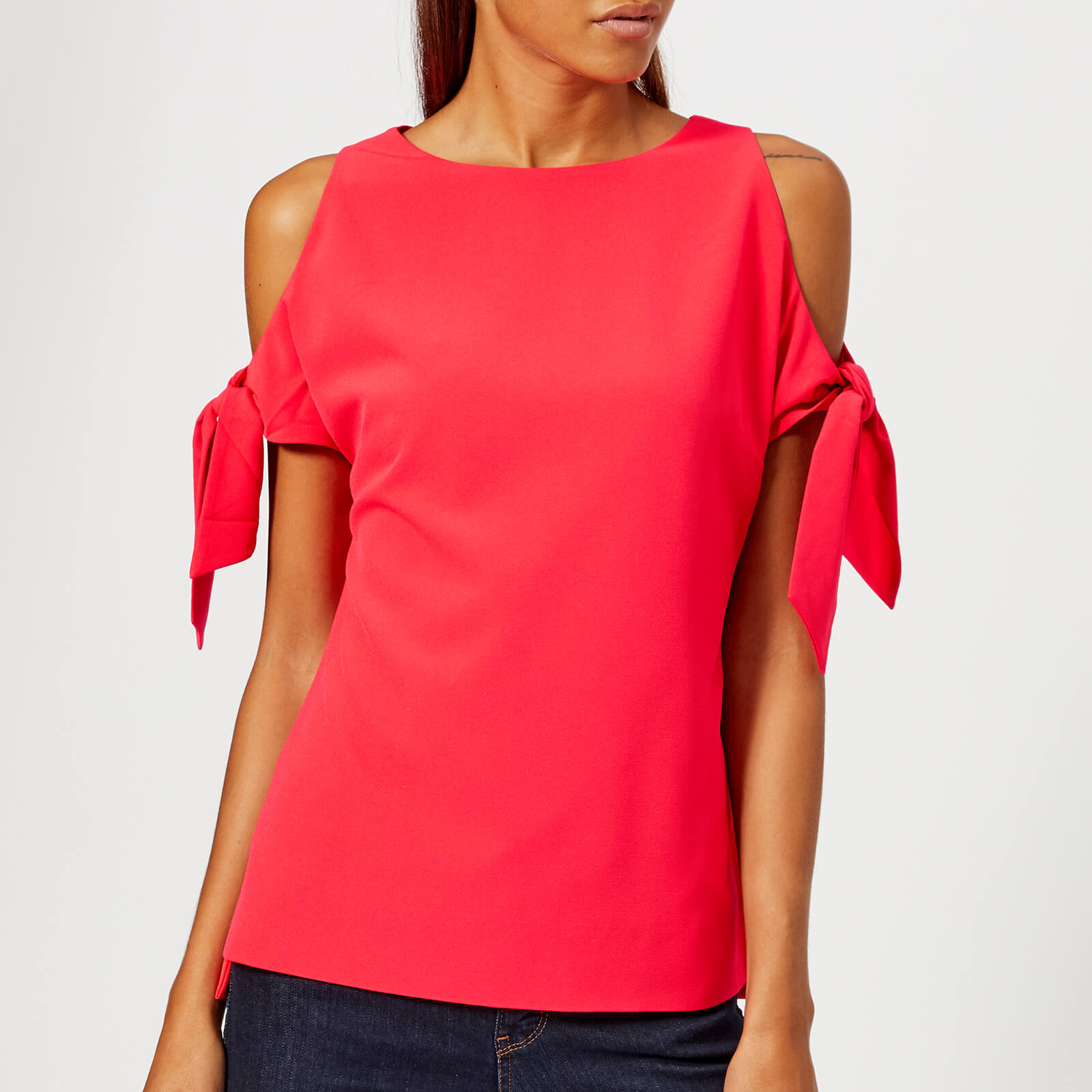c3b3f0836cb96 Ted Baker Women s Yaele Tie Sleeve Cold Shoulder Top - Bright Red ...