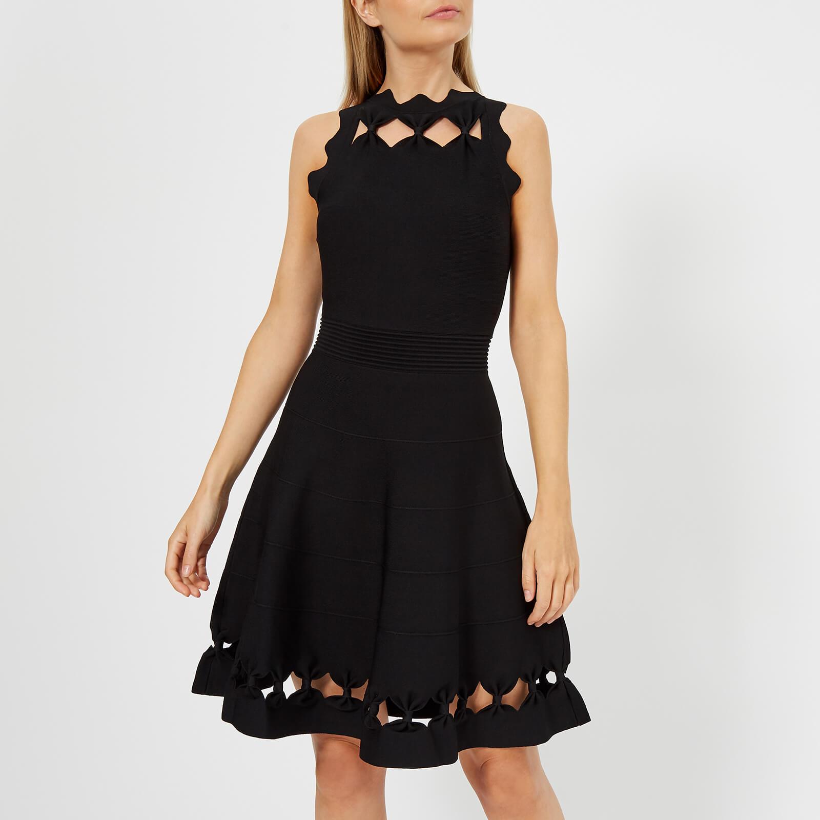 933b6e621 Ted Baker Women s Cherina Bow Detail Knitted Skater Dress - Black Womens  Clothing