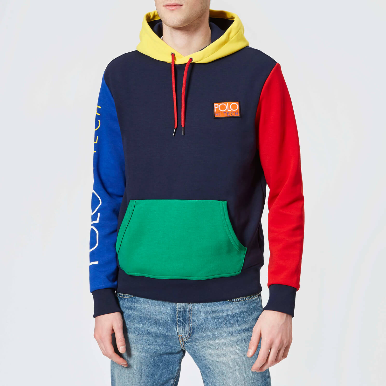 0dc5ff1a460e Polo Ralph Lauren Men s Overhead Hoody - Cruise Navy Multi - Free UK  Delivery over £50
