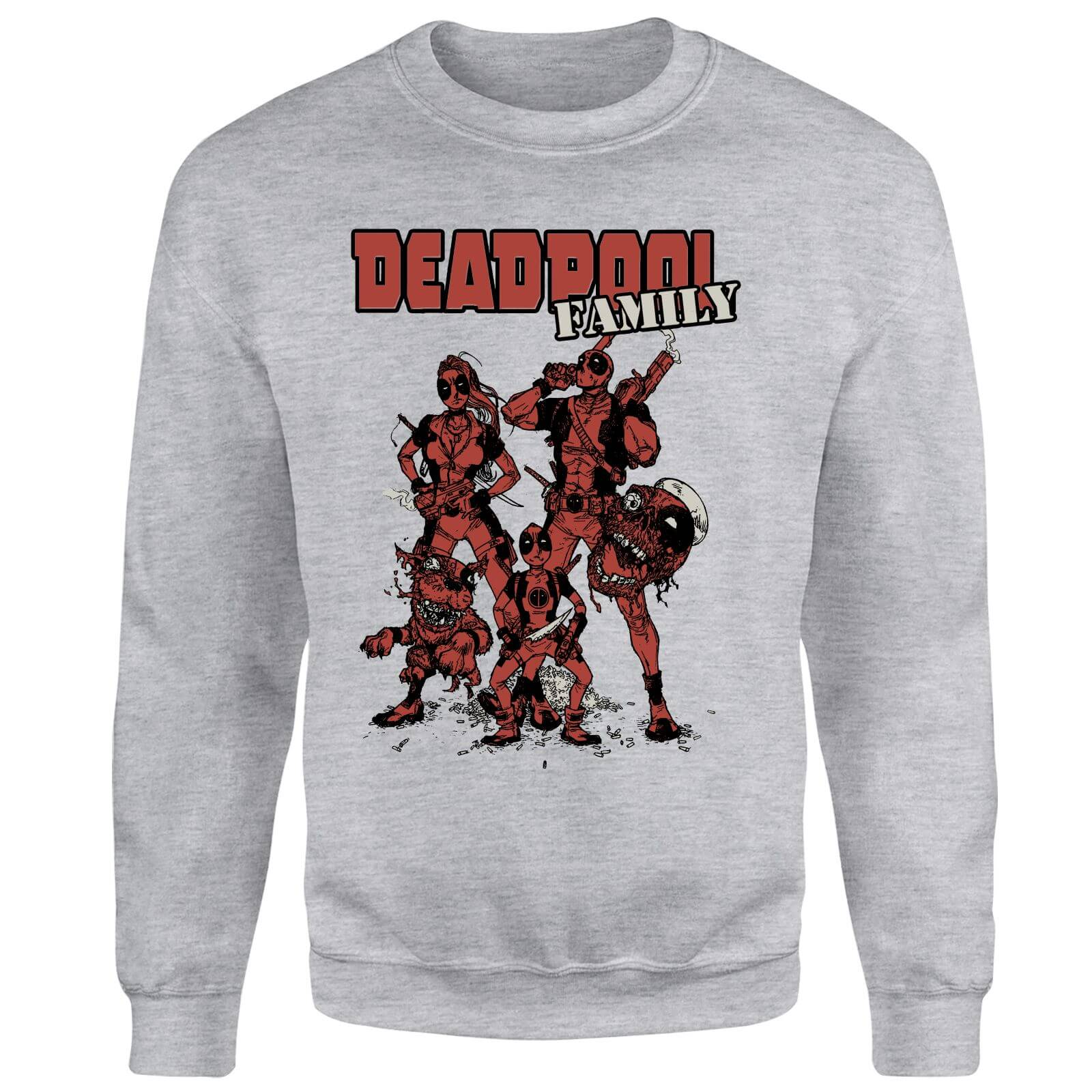 Marvel Deadpool Family Group Sweatshirt - Grey