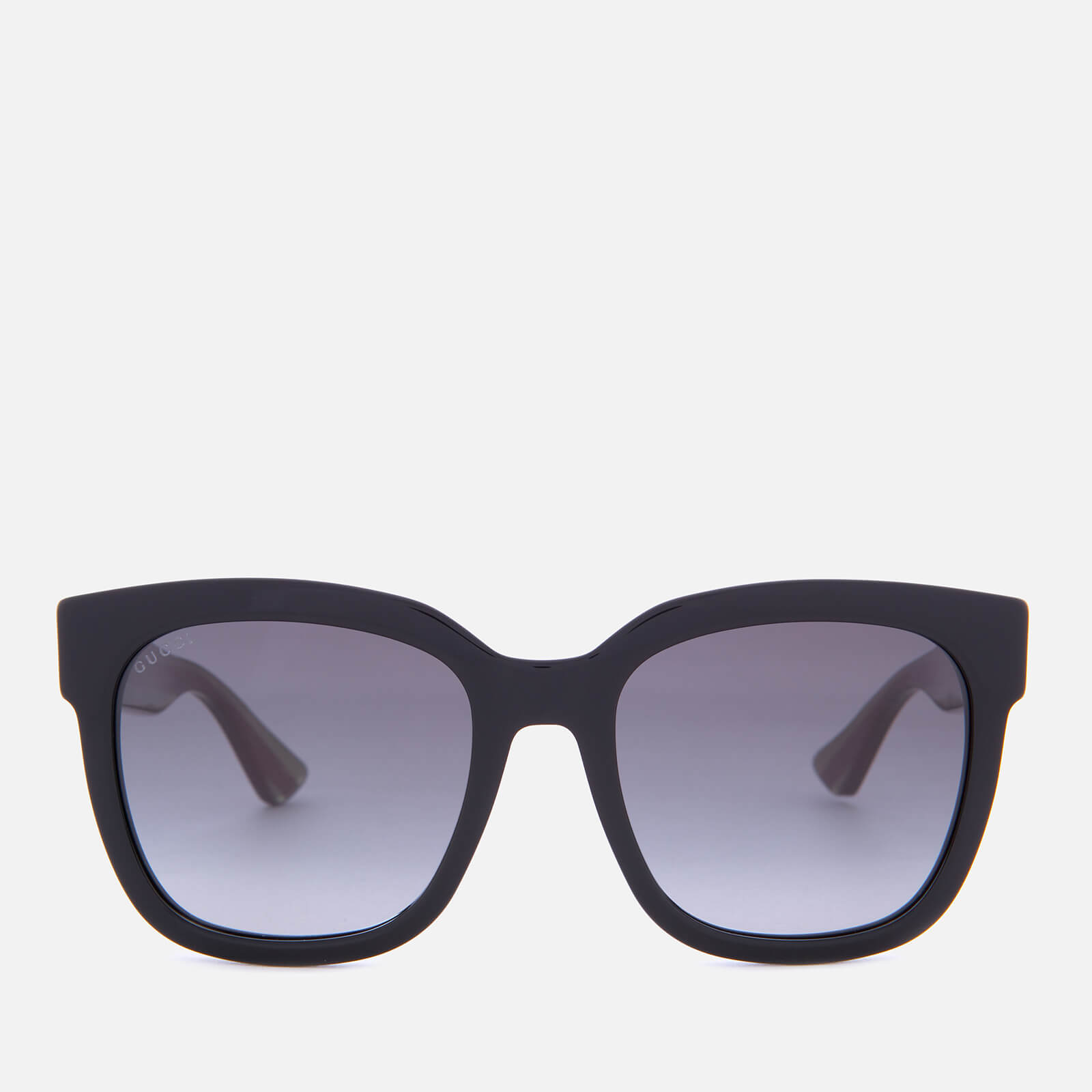 8d701924043 Gucci Women s Acetate Square Frame Sunglasses - Black Green - Free UK  Delivery over £50