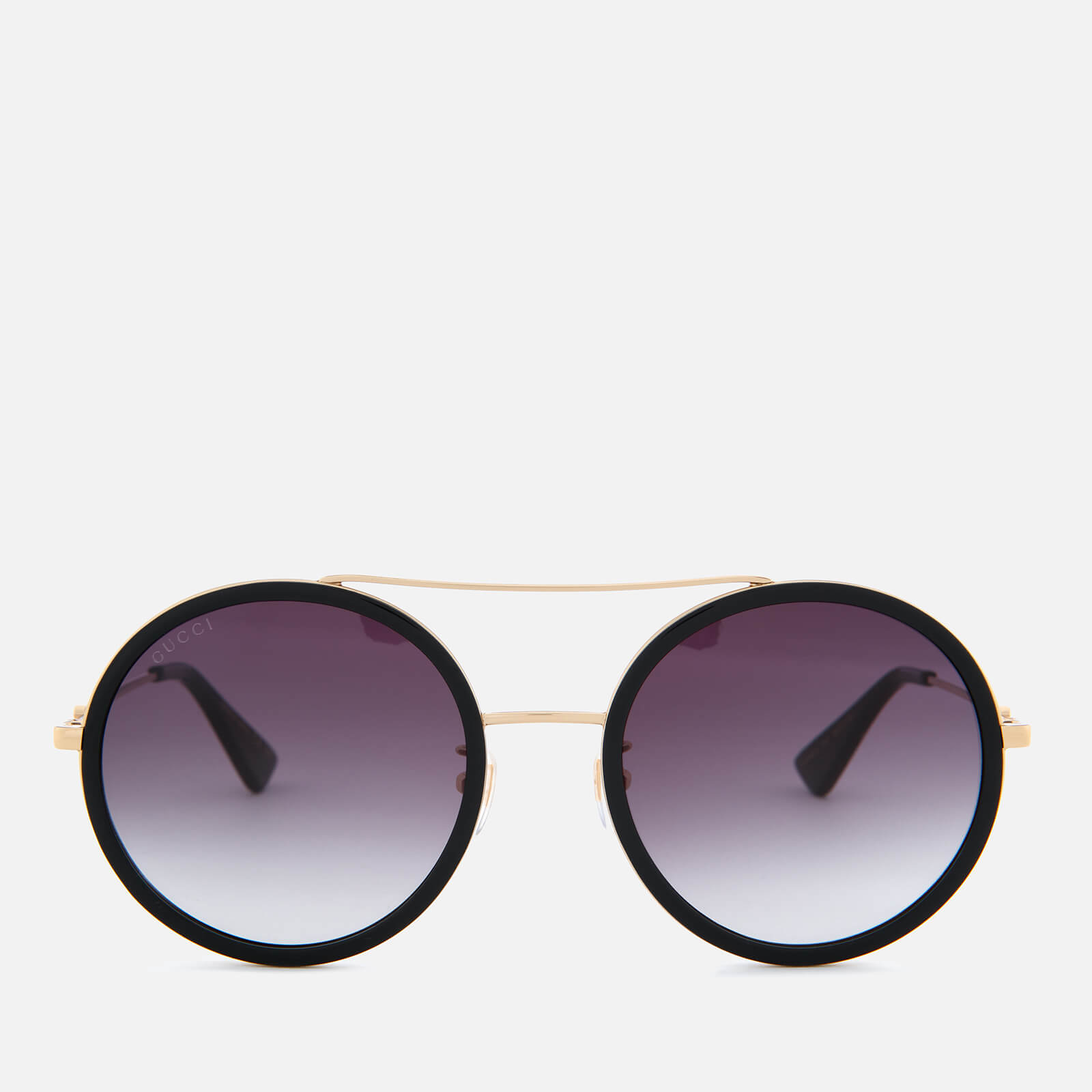 609954b95c Gucci Women s Metal Frame Round Sunglasses - Gold Grey - Free UK Delivery  over £50