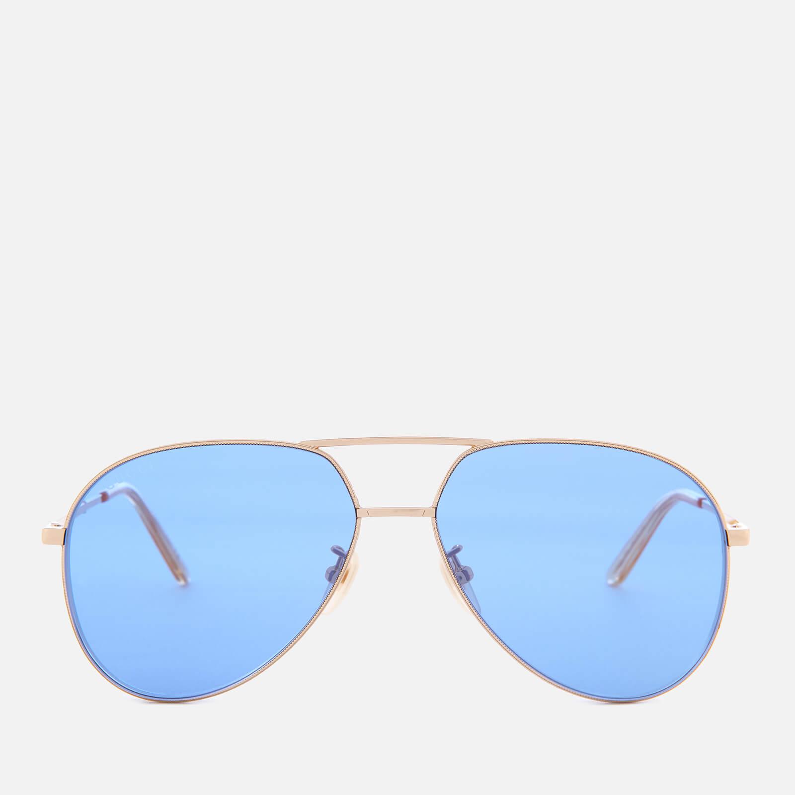 00da372710e Gucci Metal Frame Sunglasses - Gold Blue - Free UK Delivery over £50