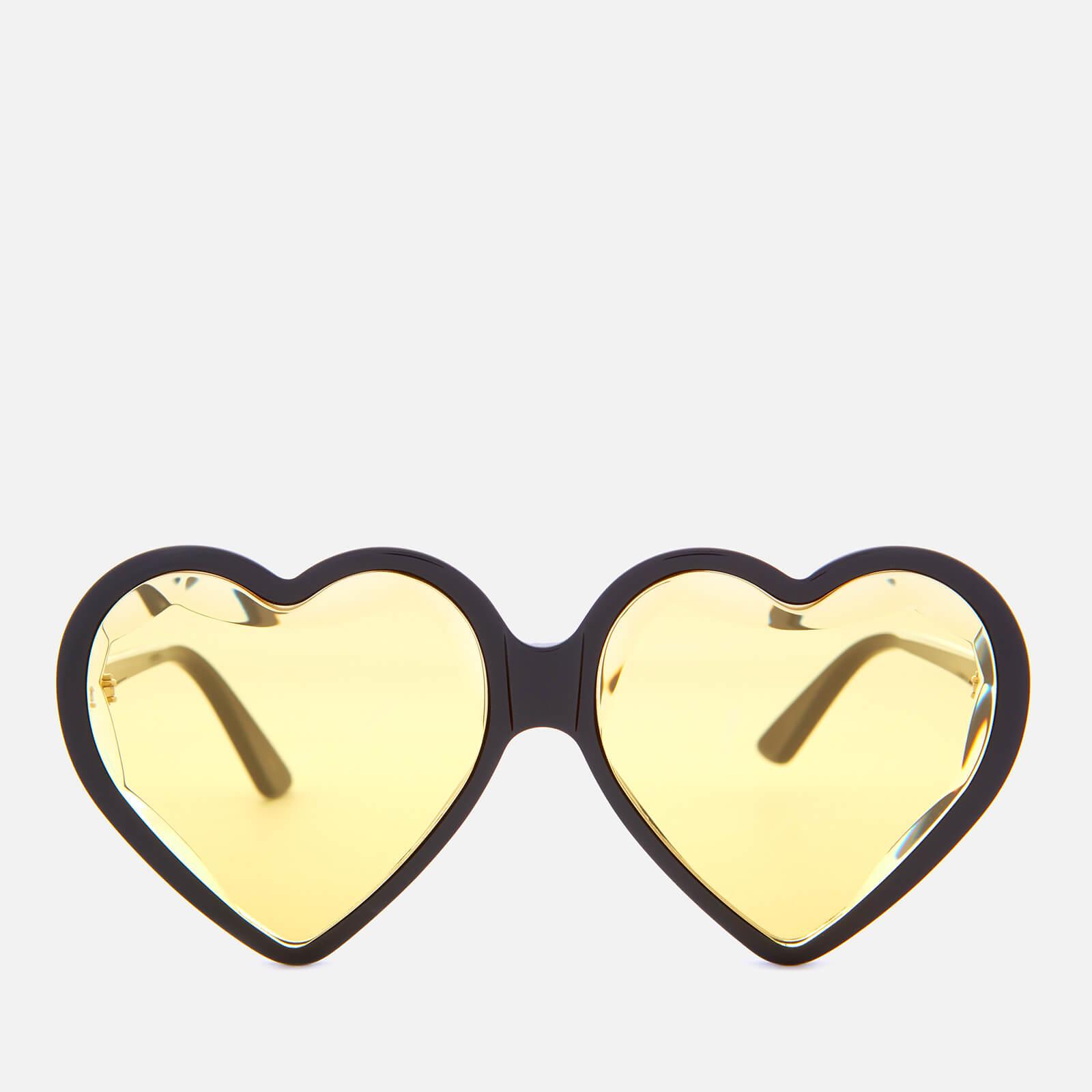 a76a741a7c Gucci Women's Acetate Heart Sunglasses - Black/Yellow