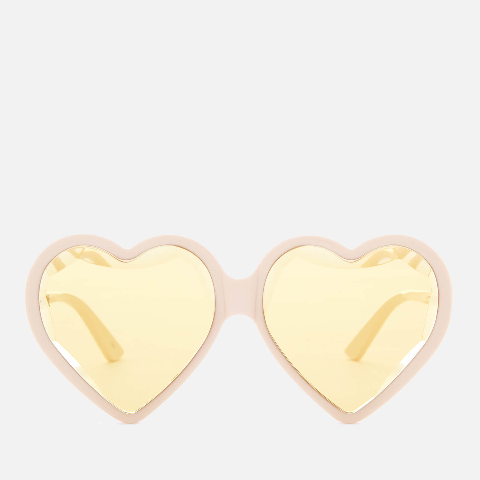 5b9d0983e9 Gucci Women's Acetate Heart Sunglasses - Ivory/Yellow