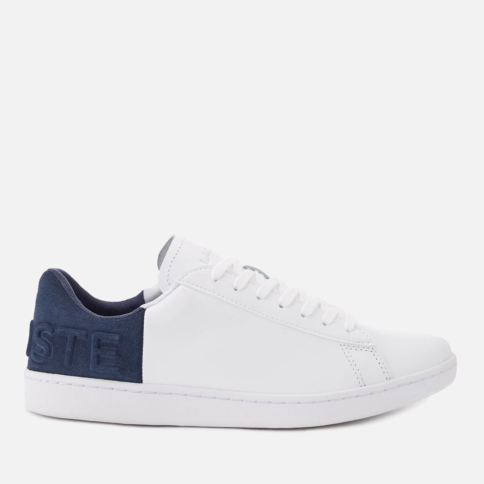 d46f0eea91fd5 Lacoste Women s Carnaby Evo 318 3 Leather Suede Trainers - White Navy -  Free UK Delivery over £50