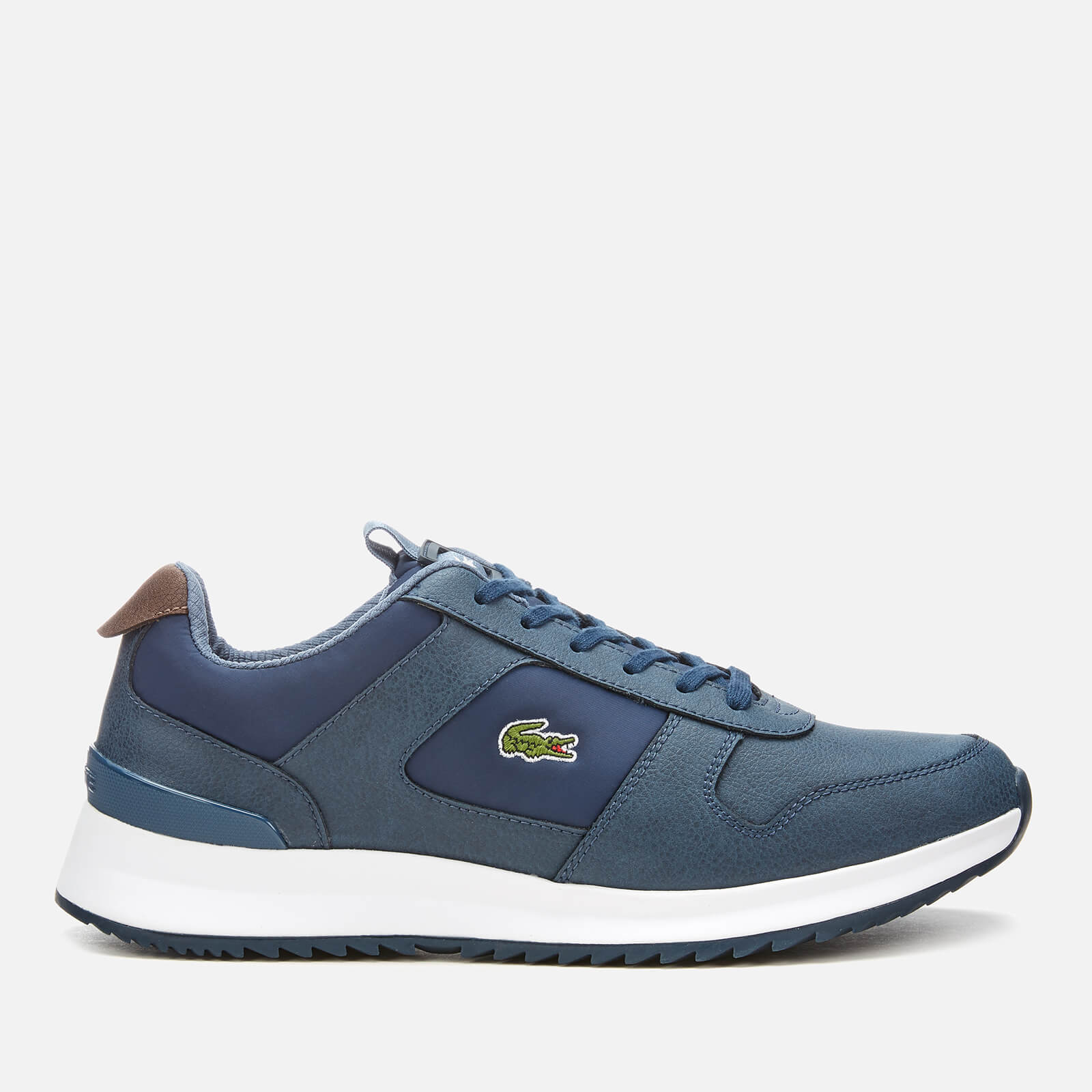 d9720997ec8aa Lacoste Men s Joggeur 2.0 318 1 Textile Leather Runner Style Trainers -  Navy Dark Blue - Free UK Delivery over £50