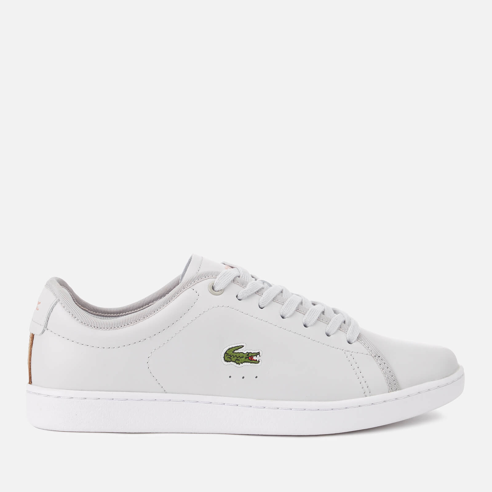 f1011f1a Lacoste Women's Carnaby Evo 318 6 Leather Trainers - Light Grey/White Womens  Footwear | TheHut.com