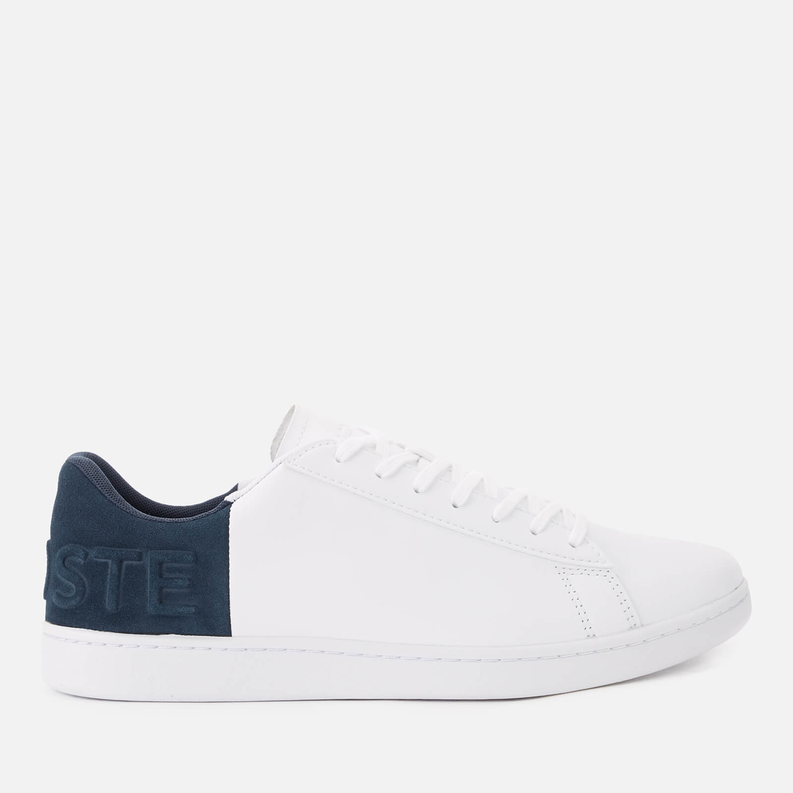 1faa544a4 Lacoste Men s Carnaby Evo 318 6 Leather Suede Trainers - White Navy - Free  UK Delivery over £50