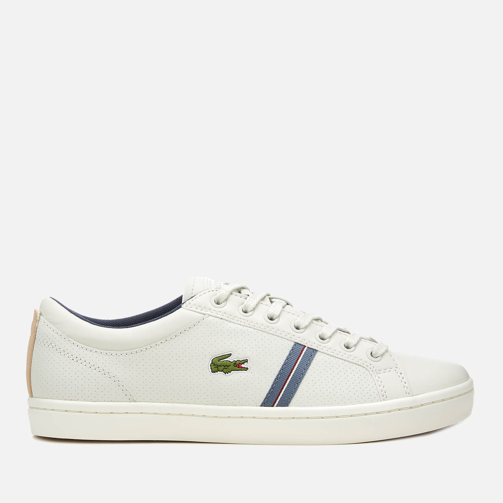 caf749460 Lacoste Men s Straightset Sport 318 1 Leather Trainers - Off White Natural  - Free UK Delivery over £50