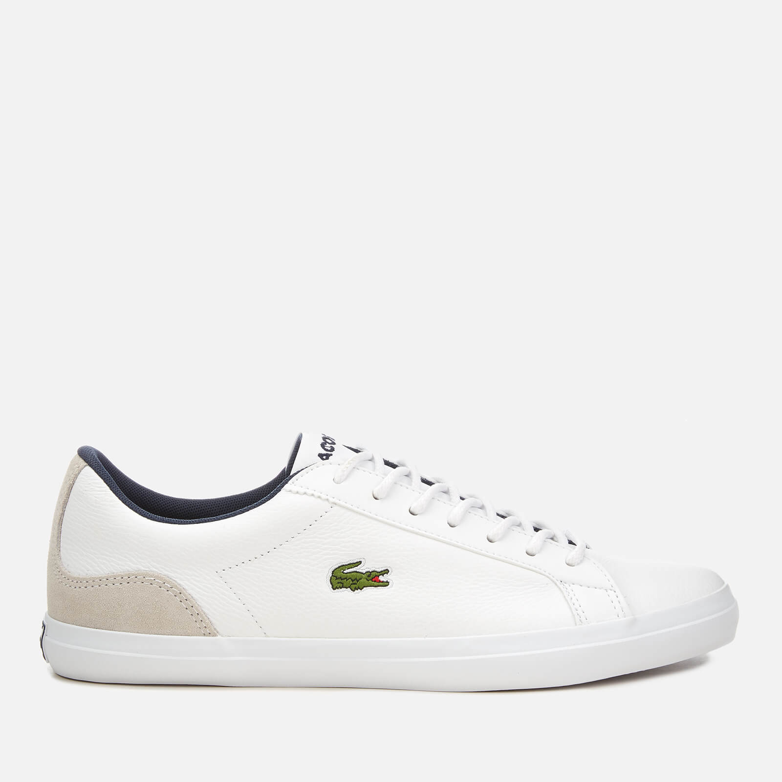 3a73bf759537 Lacoste Men s Lerond 318 3 Leather Suede Trainers - White Navy Mens  Footwear