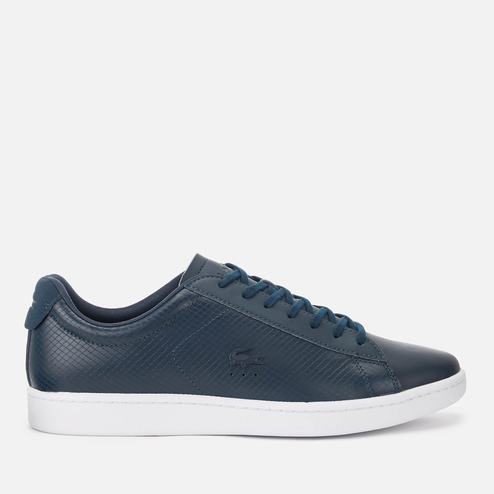 5940faaa6 Lacoste Men s Carnaby Evo 318 7 Croc Leather Trainers - Navy Mens Footwear