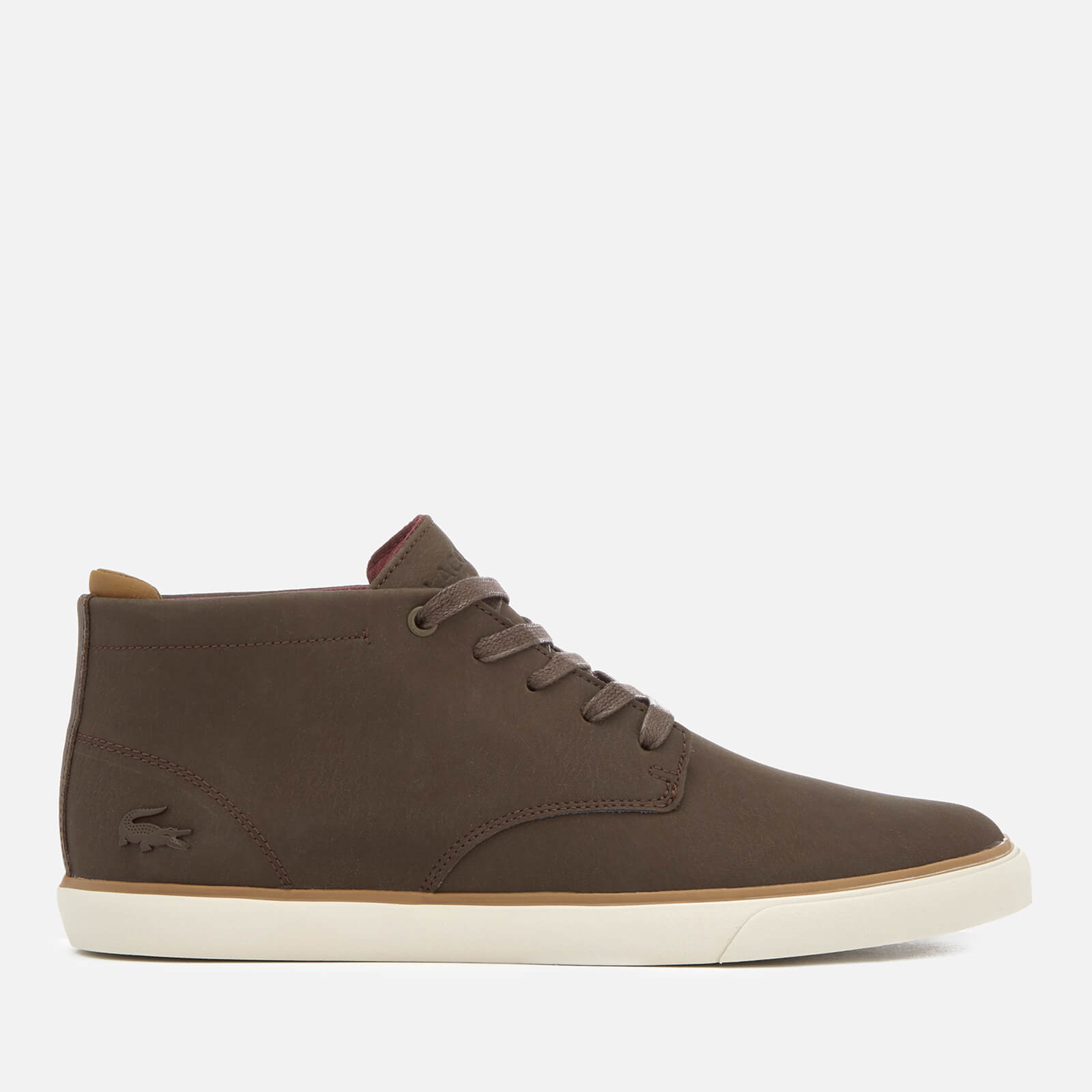 f8bb9a295ed Lacoste Men's Esparre Chukka 318 1 Leather/Suede Derby Chukka Boots -  Brown/Brown