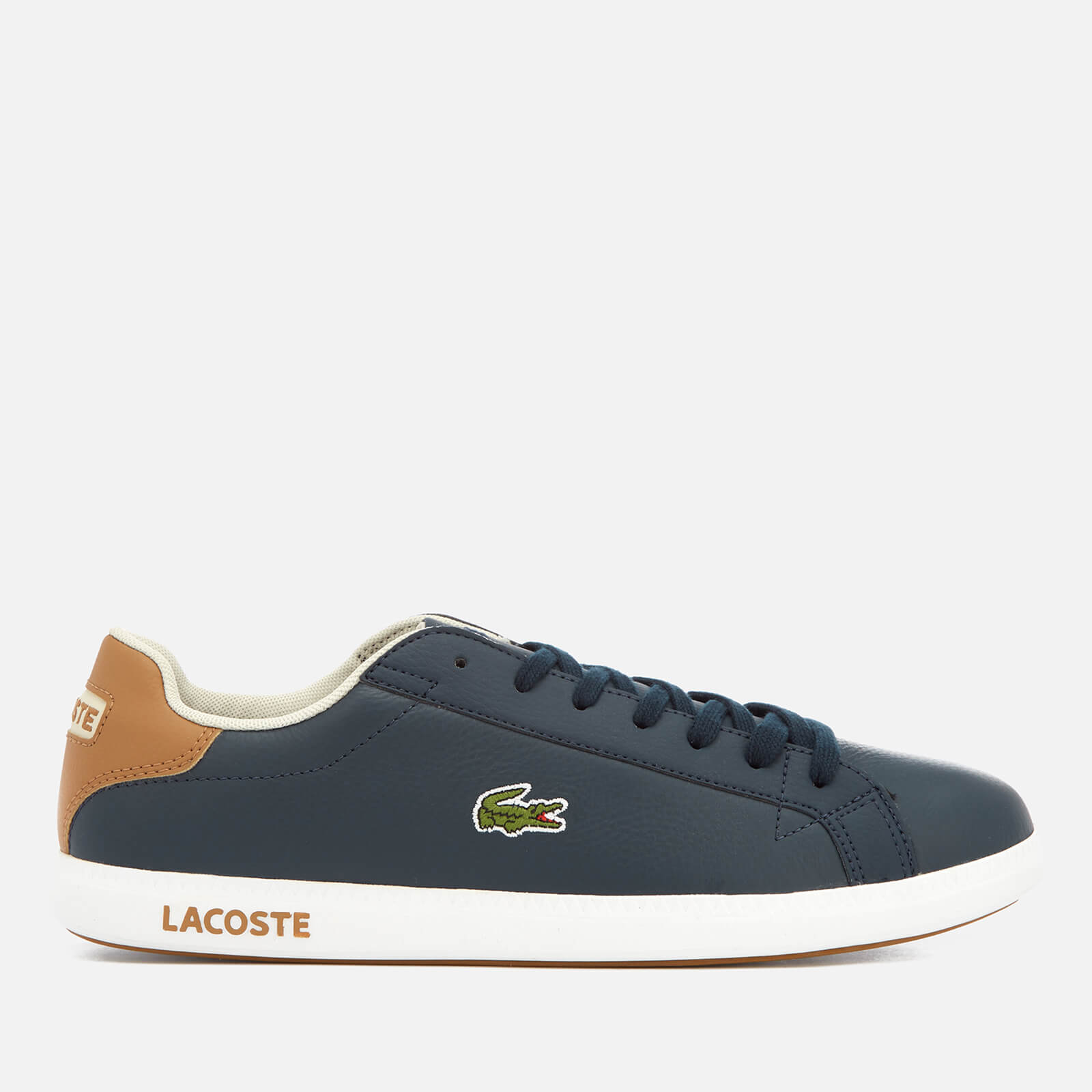 ccf0c59c8ad3ed Lacoste Men s Graduate Lcr3 118 1 Leather Trainers - Navy Light Brown -  Free UK Delivery over £50