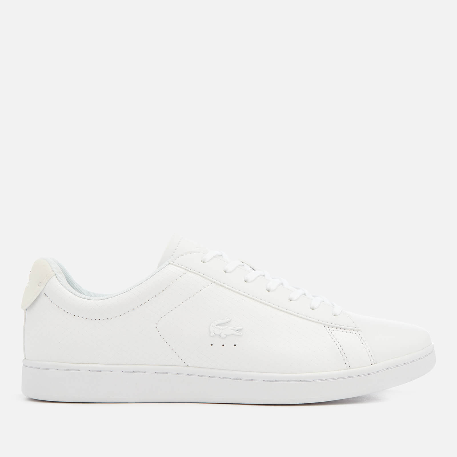 f64bde5aa72605 Lacoste Men s Carnaby Evo 318 7 Croc Leather Trainers - White - Free UK  Delivery over £50