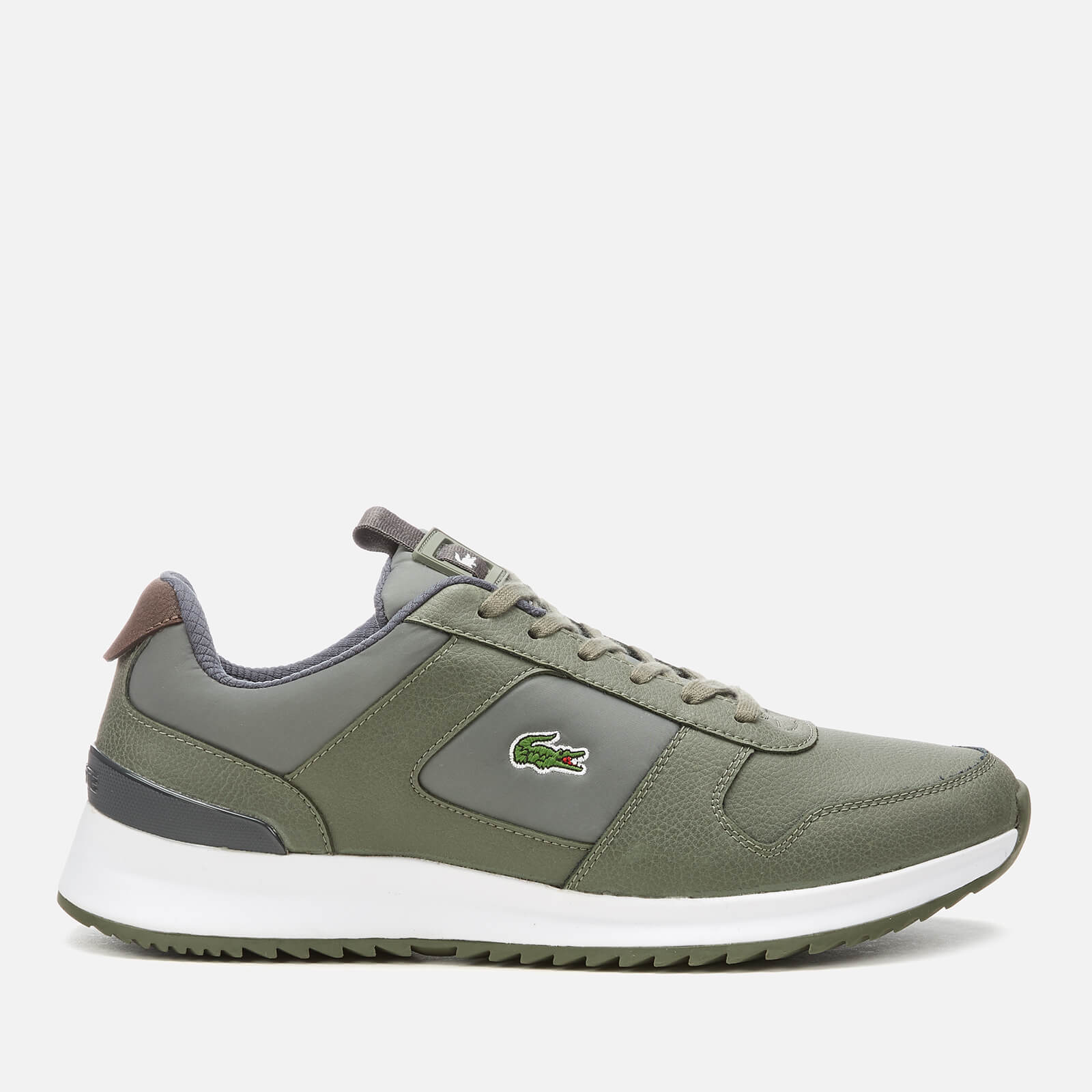 1ea5f4a5b Lacoste Men s Joggeur 2.0 318 1 Textile Leather Runner Style Trainers -  Khaki Dark Grey Mens Footwear