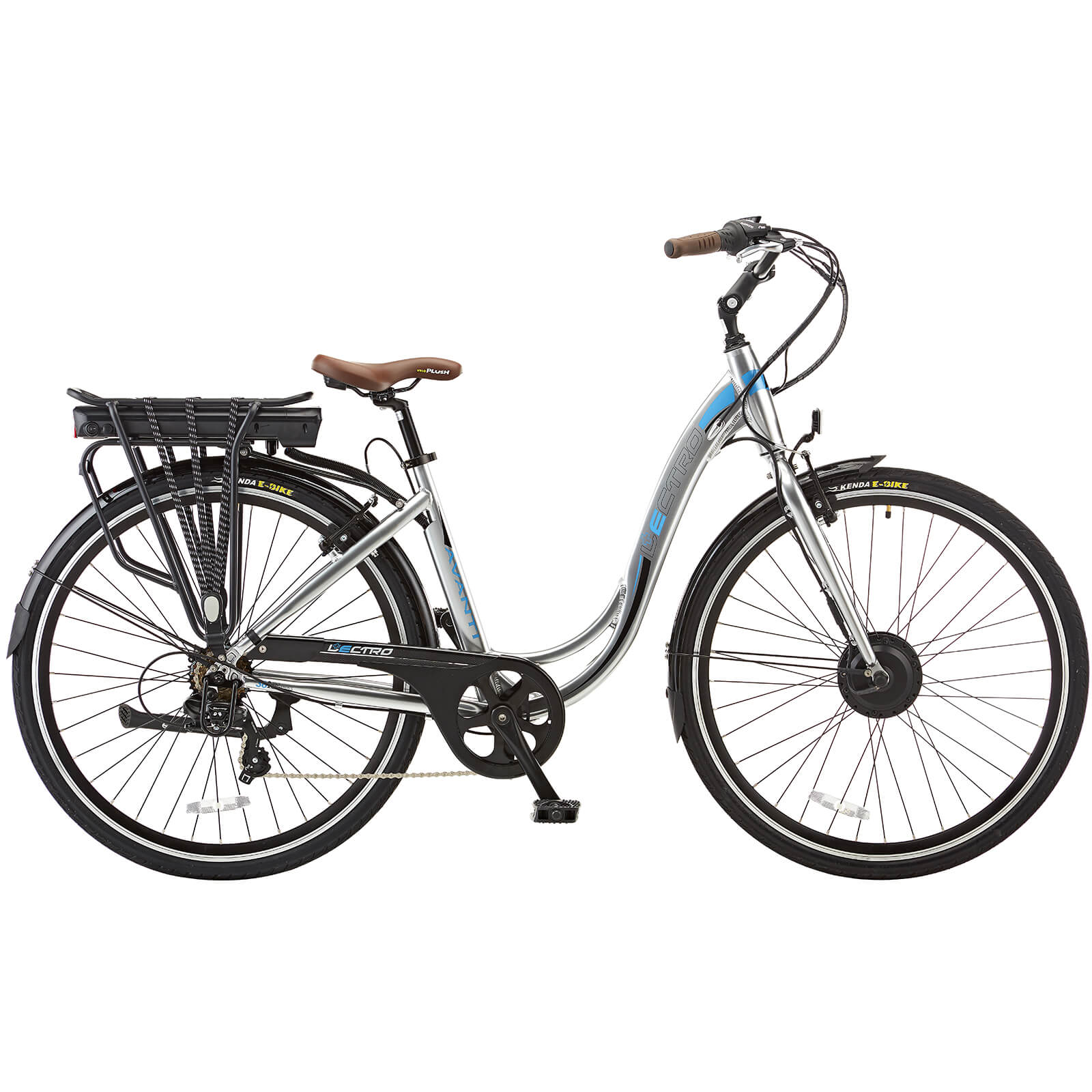 Lectro Avanti Commuter Folding 7 Speed Electric Power Assisted Bike - Silver