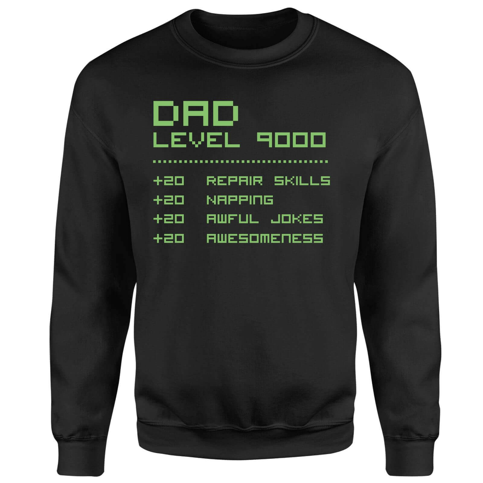 Dad Level Up Sweatshirt - Black