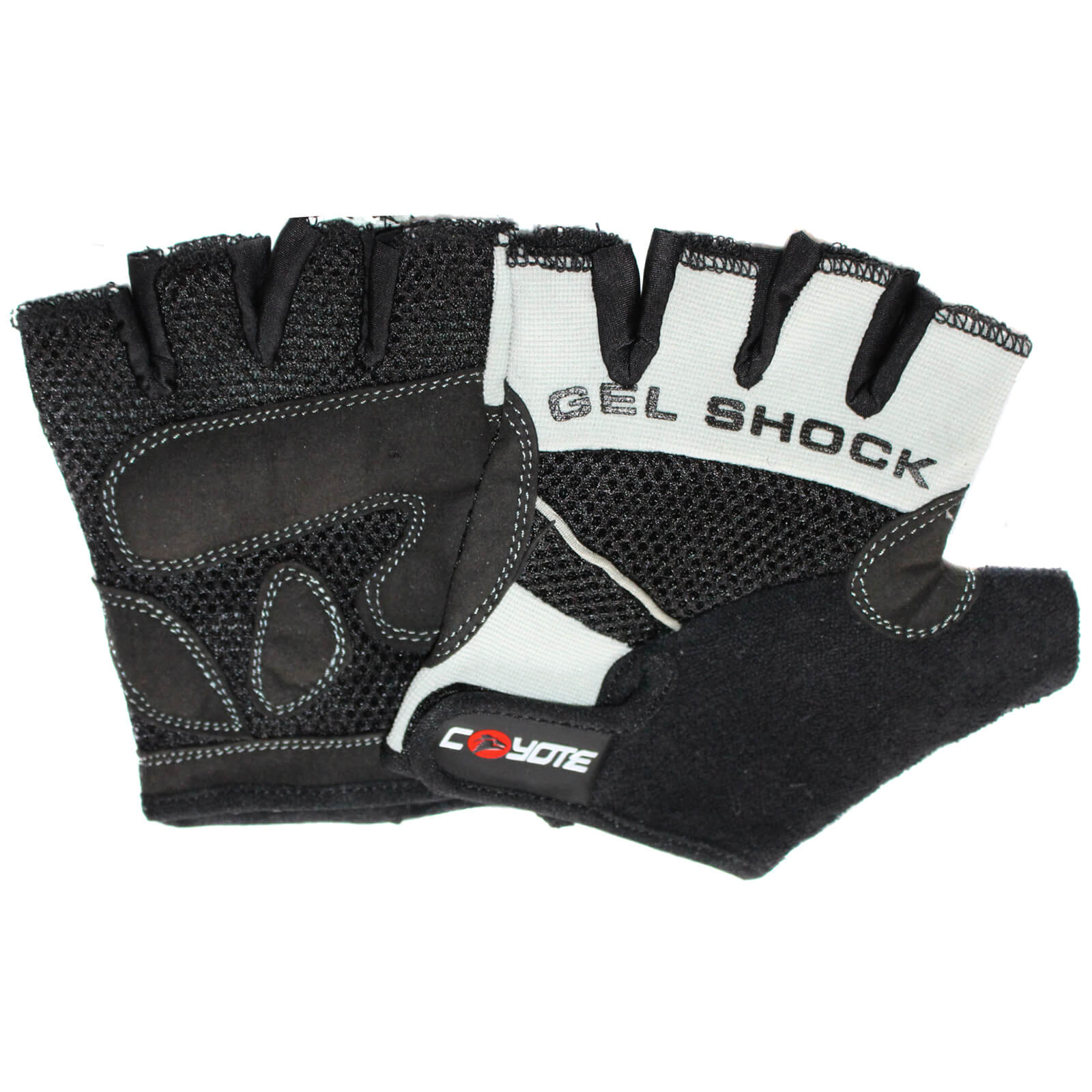 Coyote Road Gel Fingerless Cycling Mitts - Grey - L