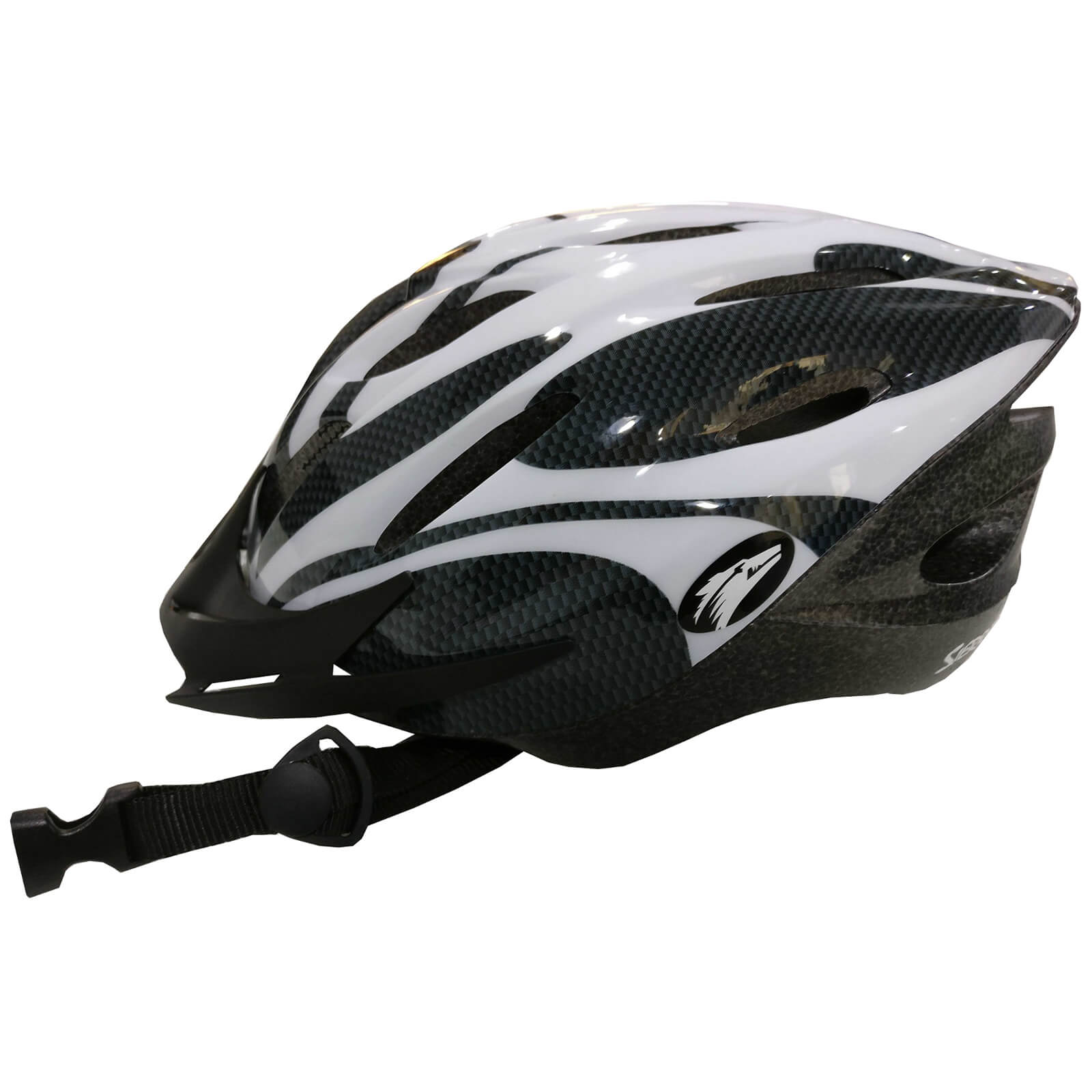 Coyote Sierra Dial Fit Adult Cycling Helmet - L - White
