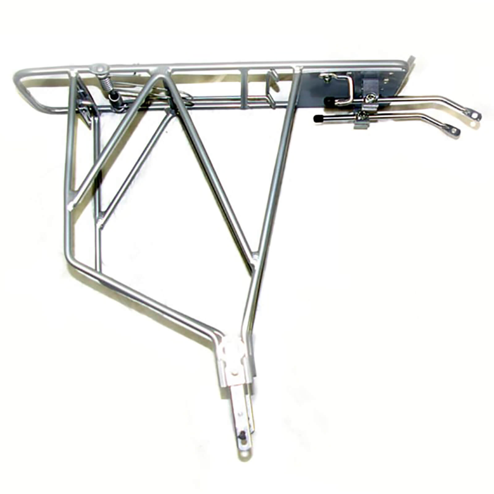 Trans-X Adjustable Silver Alloy Pannier Rack