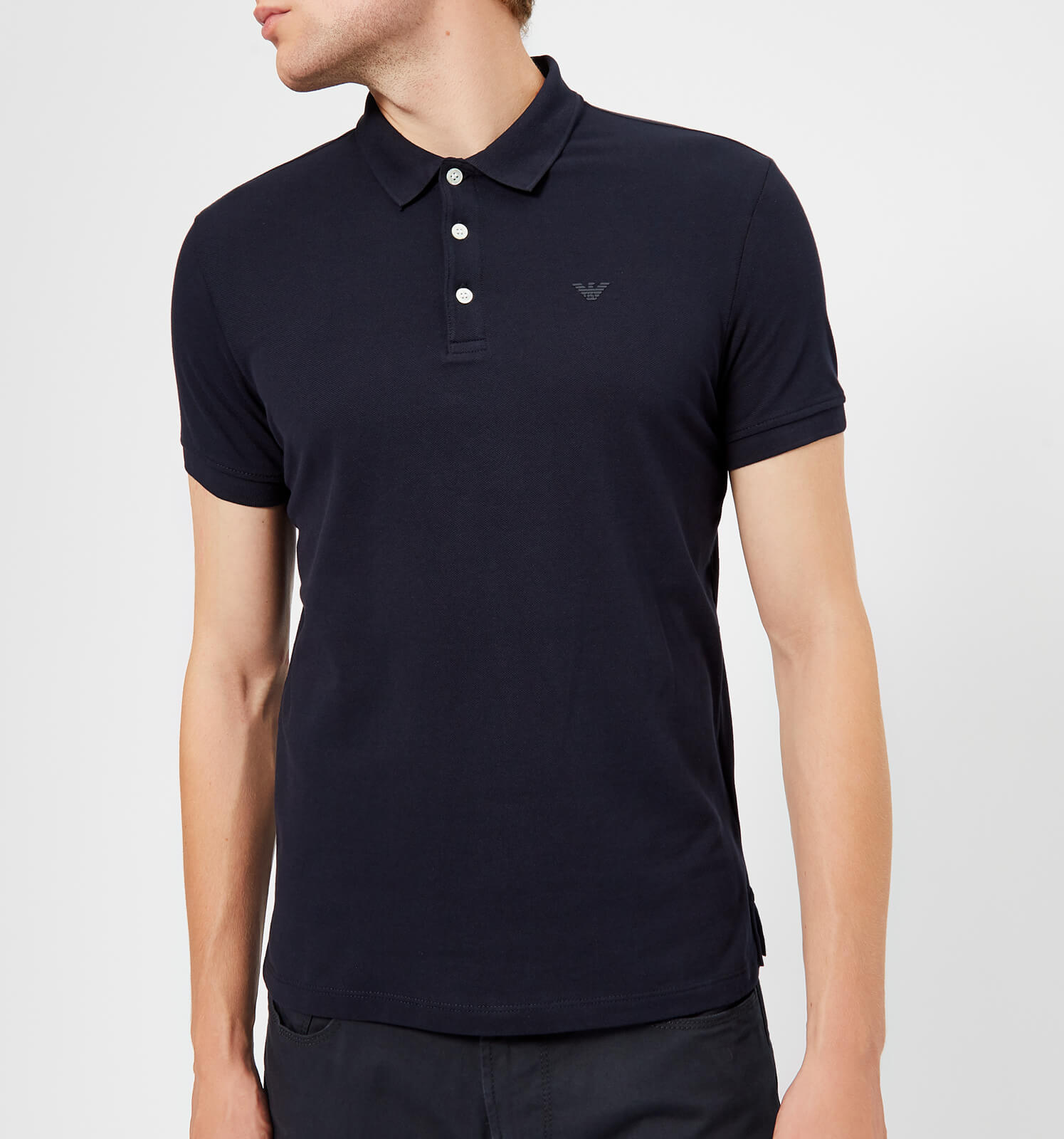 04c27863d029 Emporio Armani Men's Basic Regular Fit Polo Shirt - Navy - Free UK Delivery  over £50