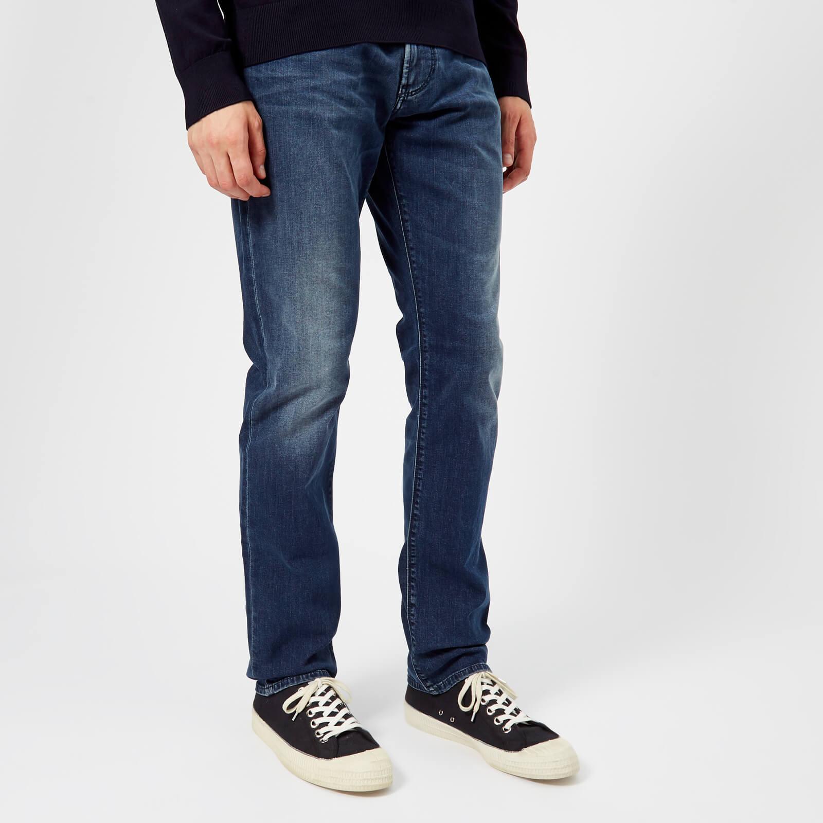 wholesale dealer official shop hot products Emporio Armani Men's 5 Pocket Slim Denim Jeans - Denim Blue MD