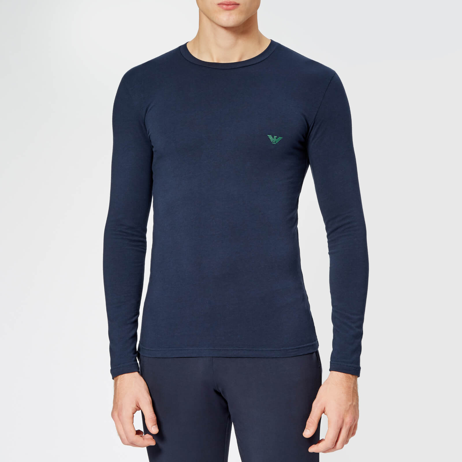 5f86a087 Emporio Armani Men's Long Sleeve T-Shirt - Blue - Free UK Delivery over £50