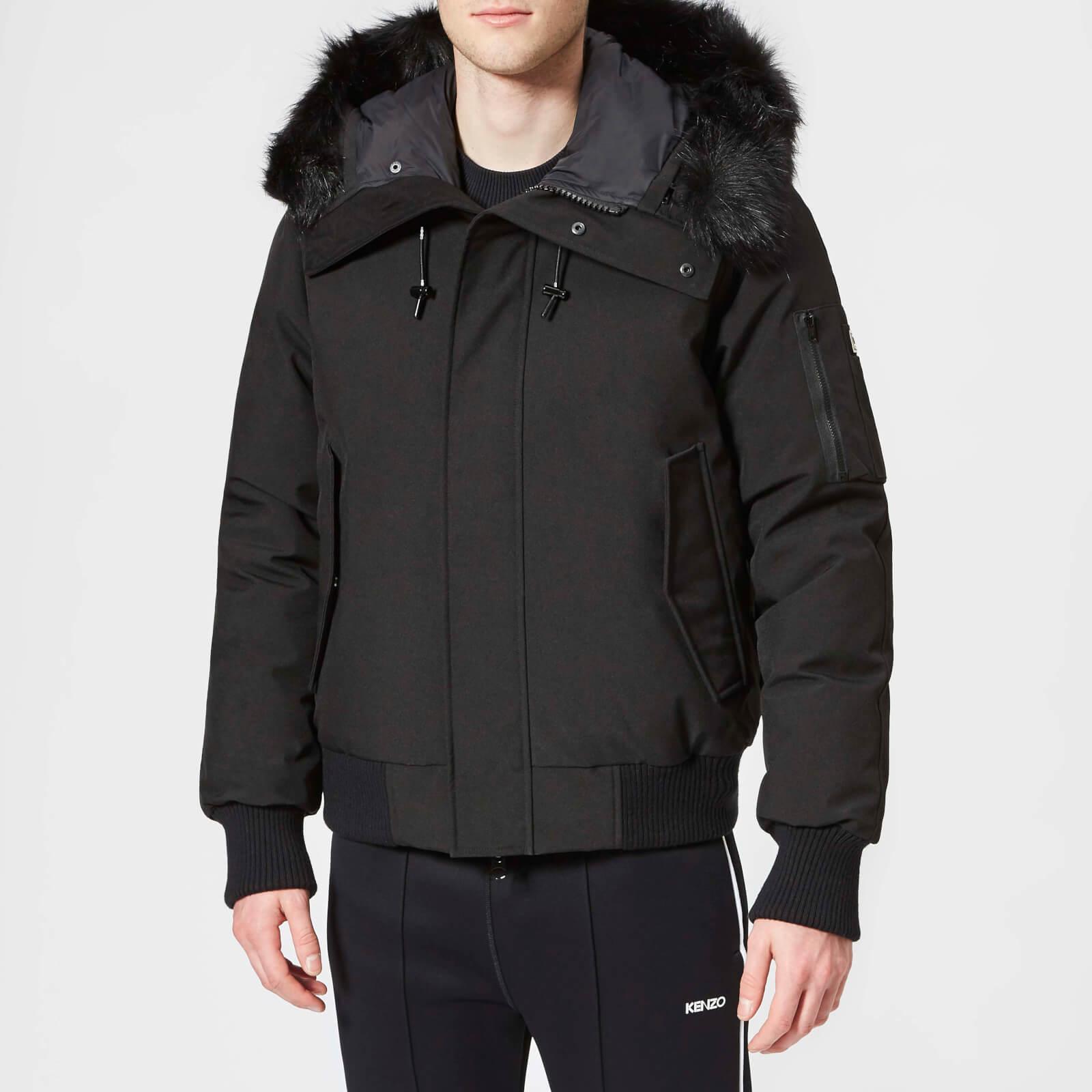 e6705d3d64 KENZO Men's Faux Fur Bomber Jacket - Black