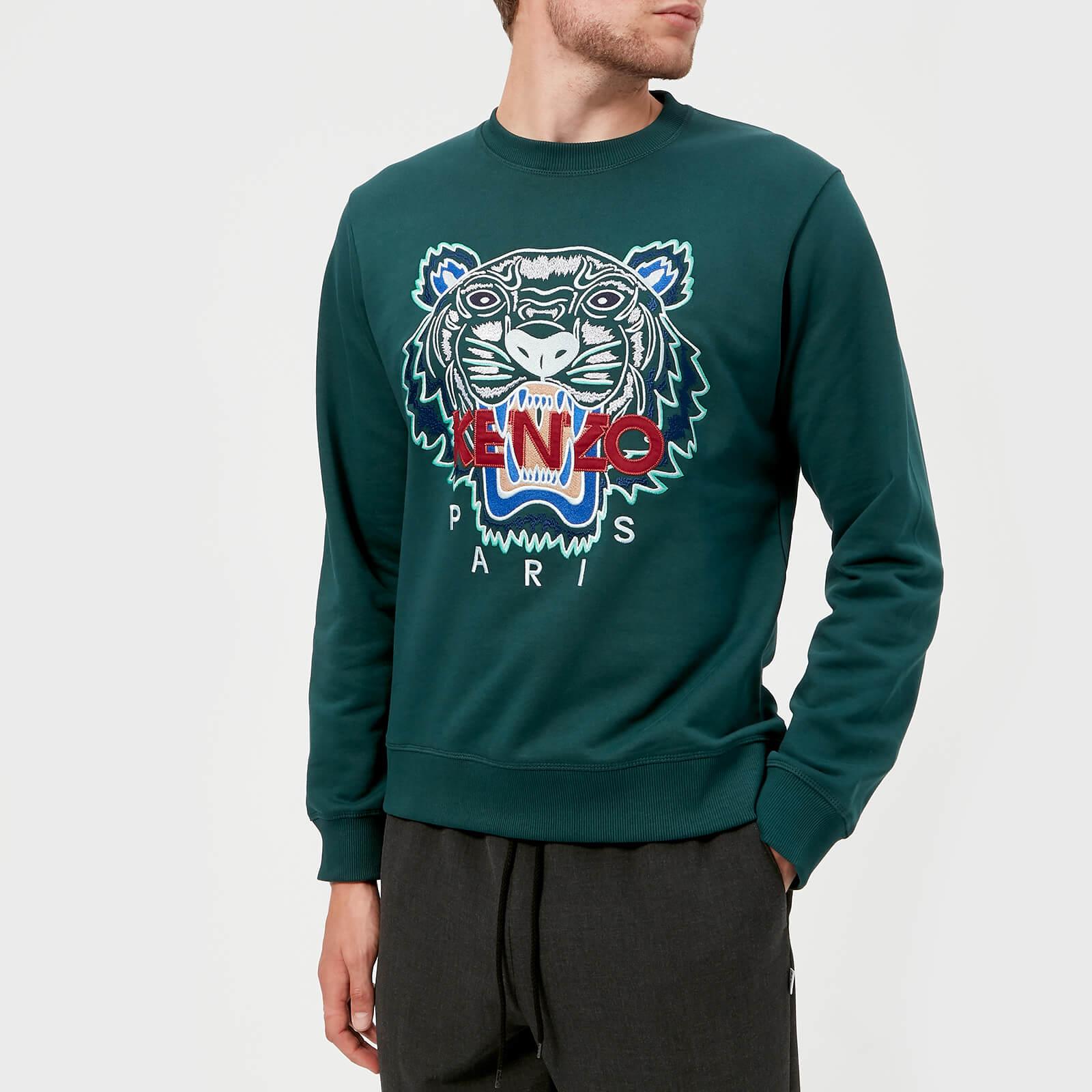 99ada1fa KENZO Men's Classic Tiger Sweatshirt - Pine Green - Free UK Delivery over £ 50