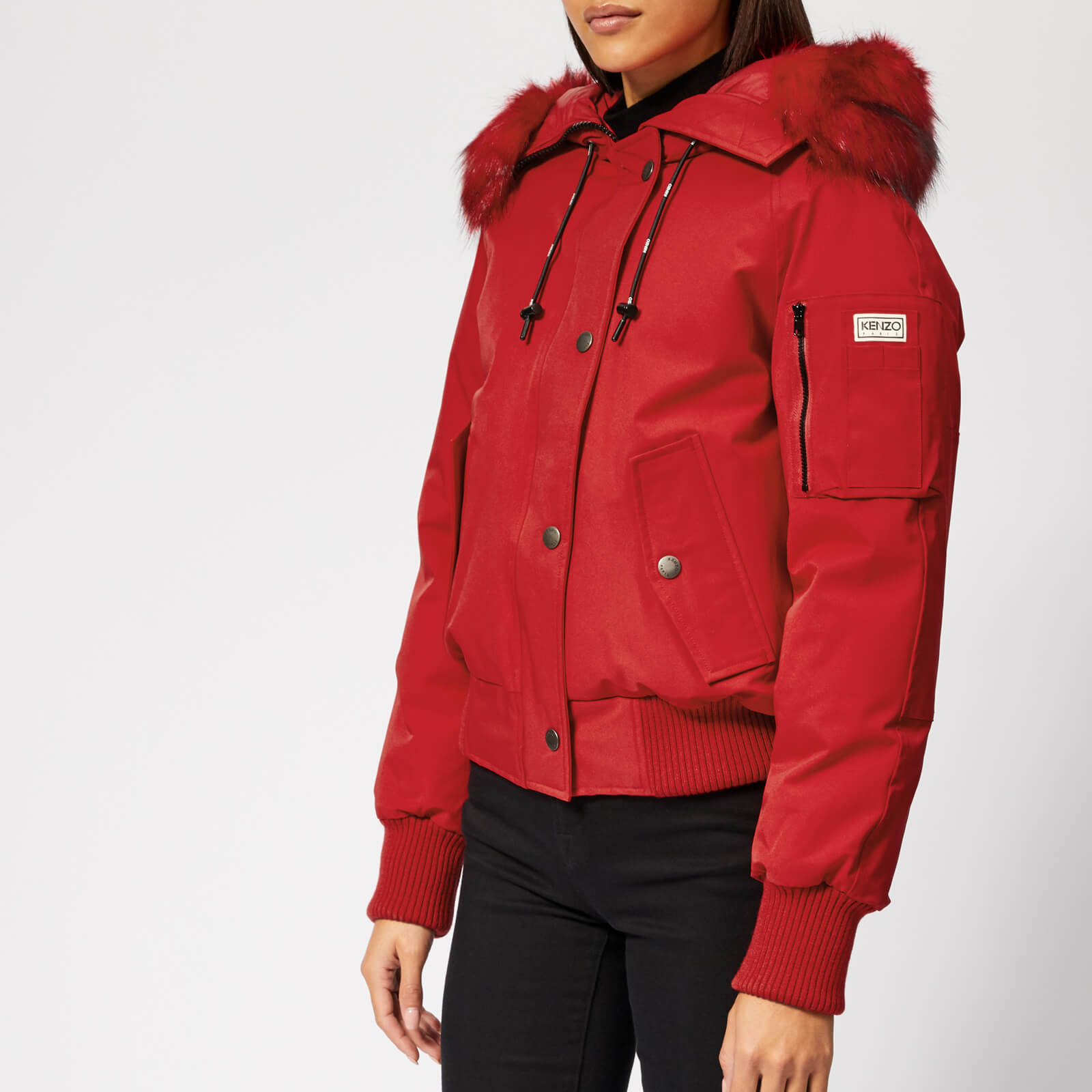 b639d6a749b3 KENZO Women s Technical Short Bomber Coat - Red - Free UK Delivery over £50
