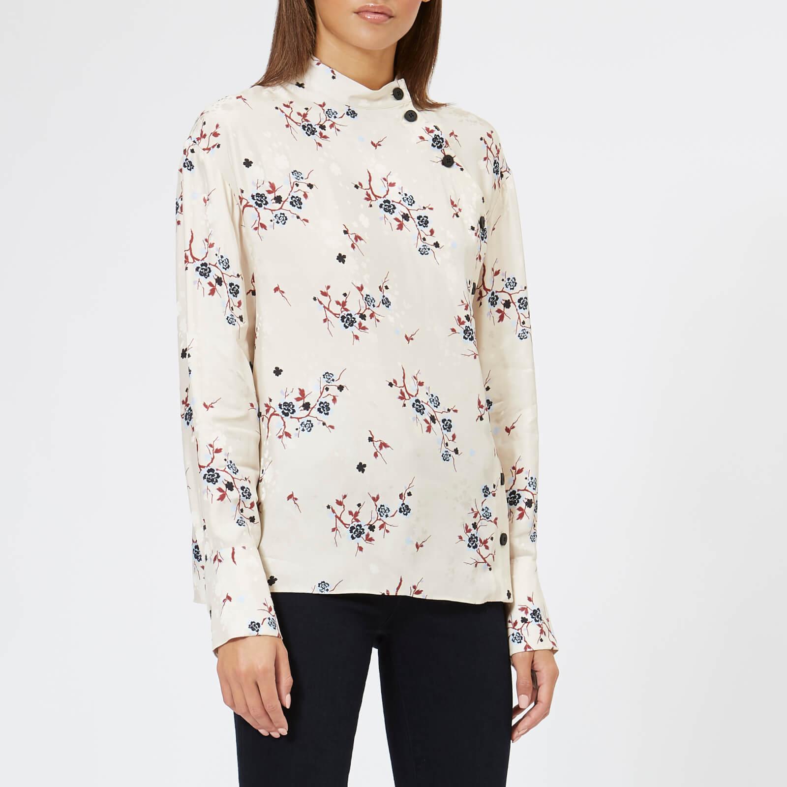 e496e28e1 KENZO Women's Cheongsam Flower Shirt - Sand - Free UK Delivery over £50