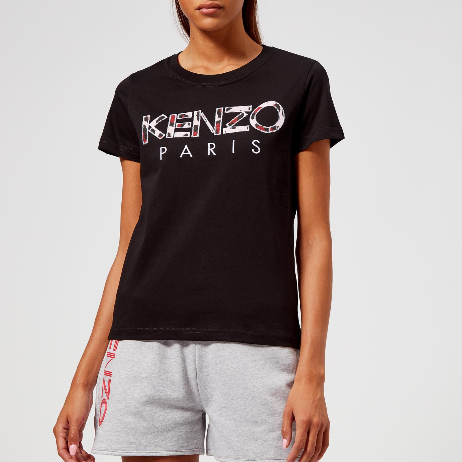 64edb93739c0 KENZO Women's Light Cotton T-Shirt - Black - Free UK Delivery over £50