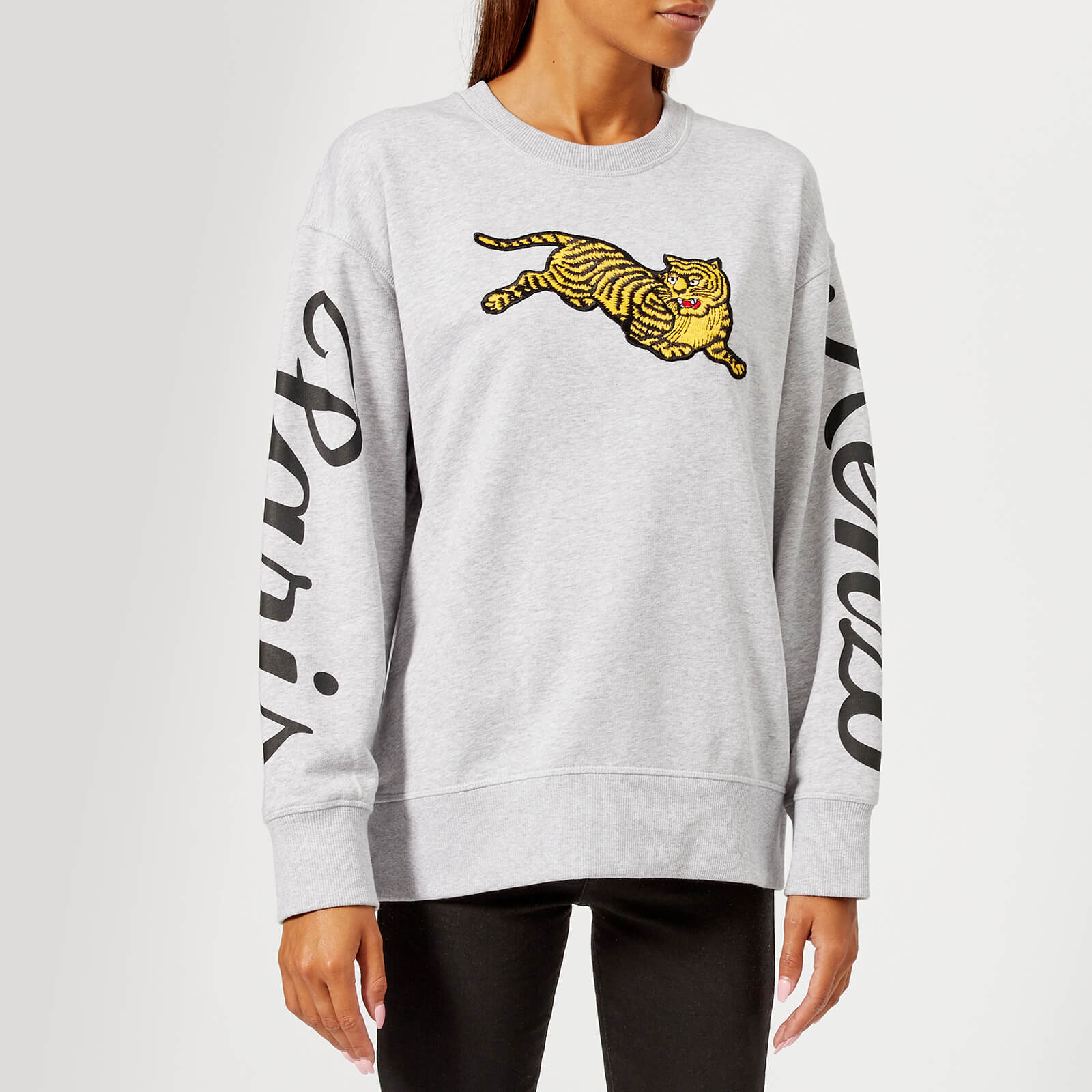 423ff1082525 KENZO Women's Jumping Tiger Molleton Sweatshirt - Grey - Free UK Delivery  over £50