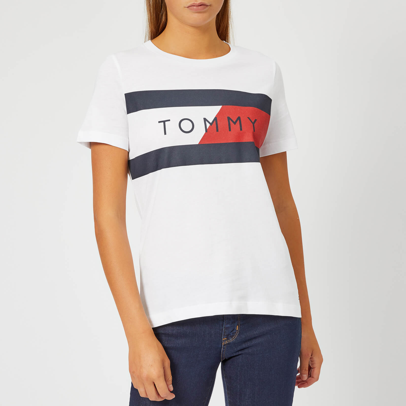 3e142b33 Tommy Hilfiger Denim T Shirt With Crew Neck In White