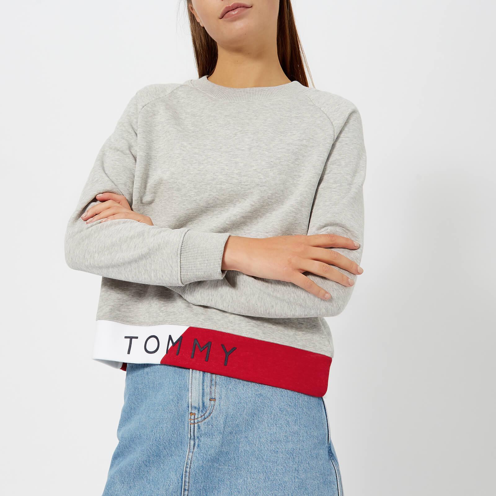 d5d5bbf231c3 Tommy Hilfiger Women s Athleisure Electra Sweatshirt - Light Grey Womens  Clothing