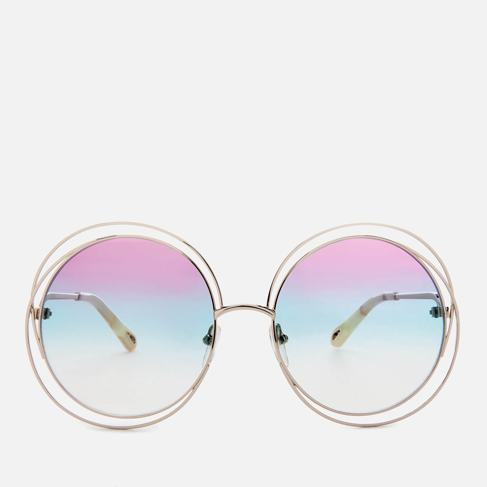 4942ec18ef8a Chloe Women s Carlina Round-Frame Sunglasses - Gold Purple - Free UK  Delivery over £50